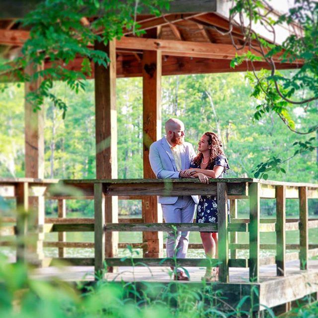 foliage that frames 🍃💞🌿💗🌱 . . #shesaidyes #greenfieldlake #engagementshoot #leavesilove #wilmingtonnc #ncphotographer #wilmingtonweddings #wilmingtonphotographer #weddingphotographer  #foliageframe