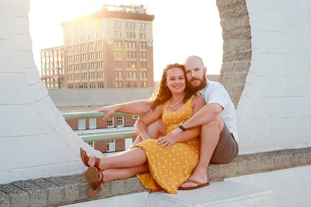 Something I learned a long time ago in Philly - I ❤ parking garages. They give a unique view to the city away from the hustle of the sidewalks below.  So when I tell you to meet me at the top of the parking garage, this is why. . . #engagementshoot #photography #wilmingtonweddings #wilmingtonliving #shesaidyes #polkadotdress #wilmingtonnc #engagementphotos #engagement #weddingphotography #wedding #engaged #love #prewedding #weddingphotographer #preweddingphoto #photography #engagementsession #weddings #bridetobe #theknot #engagementphotography #weddinginspiration  #weddingwire #weddinginspo #couple