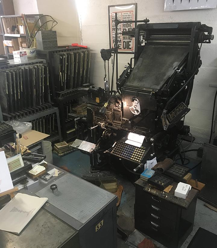 Linotype Model 31 at Stumptown Printers
