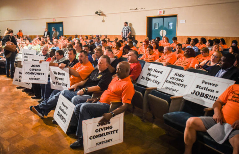 """$60 To attend a meeting wearing orange shirts supporting the power plant and $200To speak in favor of the plant.   The LENS   states, It was easy to tell who supported Entergy's proposed power plant at a public hearing last fall; they were the ones wearing fluorescent orange shirts that read """"Clean Energy. Good Jobs. Reliable Power."""" Some of those people were paid to show up and support the plant."""