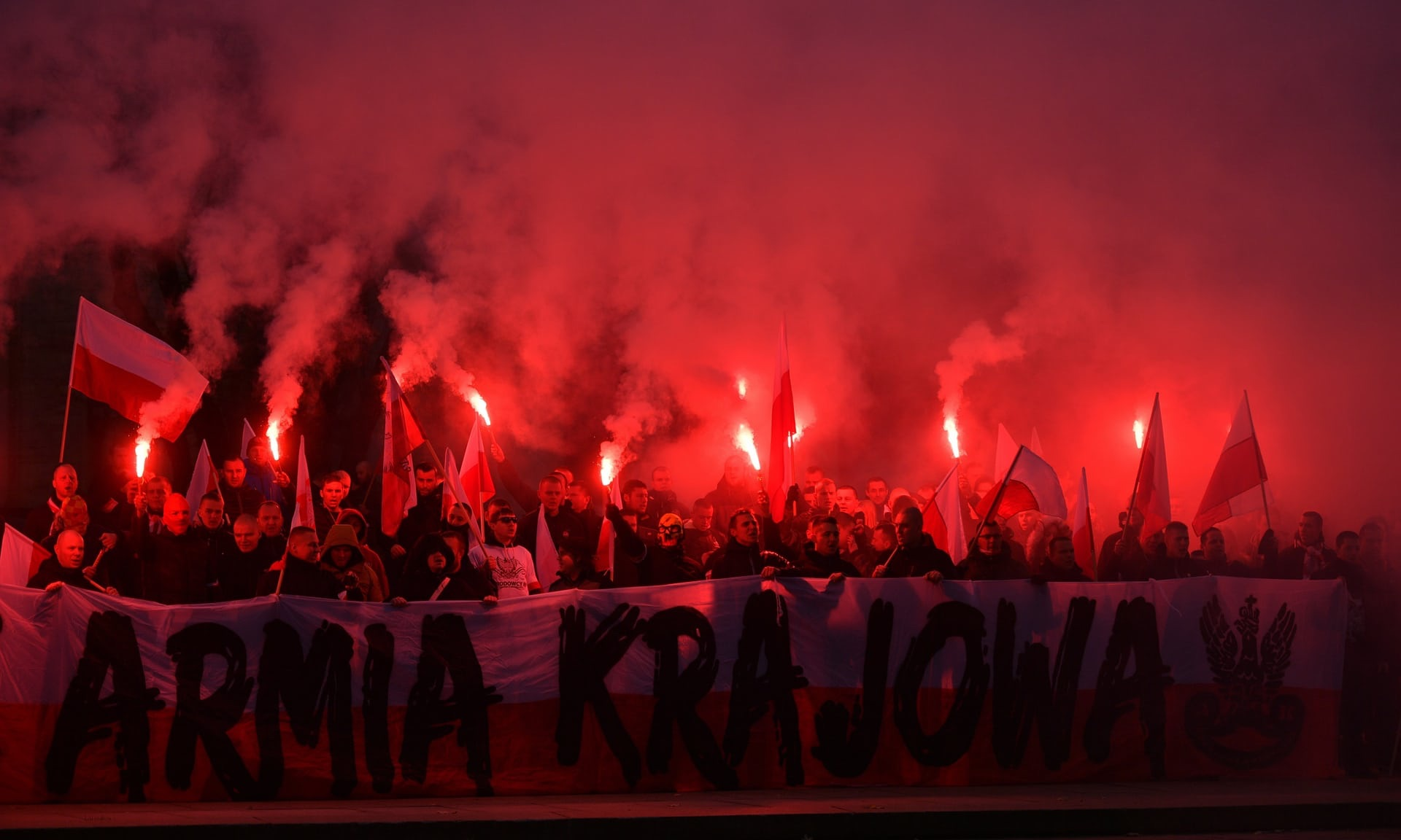 """MARCH IN POLAND NOVEMBER 2017. """"EUROPE WILL BE WHITE."""""""