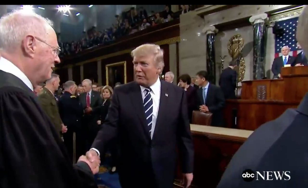 """[SERVANTS OF THEIR OWN APPETITE]MYTHOLOGY OF AUTHORITY & THE DIVINE RIGHT OF RULERS.  After President Trump made his first speech to Congress in February 2017, he was filmed exchanging pleasantries with U.S. Supreme Court Justice Anthony Kennedy.""""Say hello to your boy — special guy,"""" Trump told Kennedy, alluding to Kennedy's son, Justin.  Trump family's relationship with Justice Kennedy's family goes beyond friendship. As  The New York Times detailed in a recent article about """"the White House's quiet campaign to create a Supreme Court opening,"""" Justin Kennedy — who spent more than a decade working in a senior role at Deutsche Bank — may been more responsible than anyone else for saving the Trump family's business during the darkest days of the Great Recession: [Justin] worked closely with Mr. Trump when he was a real estate developer, according to two people with knowledge of his role.  During Mr. Kennedy's tenure, Deutsche Bank became Mr. Trump's most important lender, dispensing well over $1 billion in loans to him for the renovation and construction of skyscrapers in New York and Chicago at a time other mainstream banks were wary of doing business with him because of his troubled business history.[  MORE  ]"""