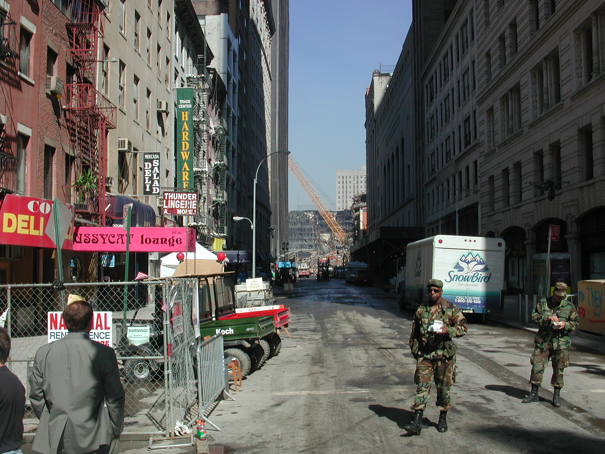 World Trade Center Photographs, 3 October 2001. The Anonymous Photographer is Cryptome.[MORE]