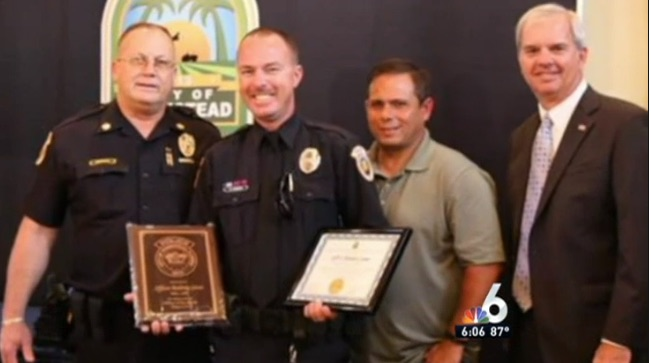 RACIST SUSPECT NAMED    COP OF THE MONTH    BY RACIST SUSPECT HOMESTEAD MAYOR. HE HAS KILLED AT LEAST 3 NON-WHITE PEOPLE SINCE 2010.