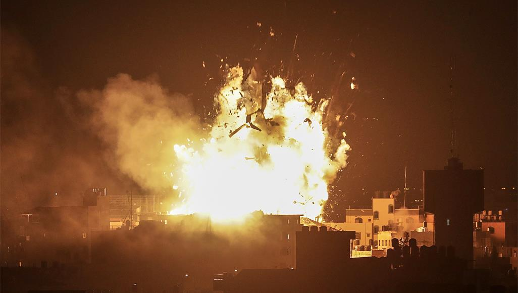 israel destroys free speech and silences media by launching missiles at TV STATION IN GAZA STRIP.