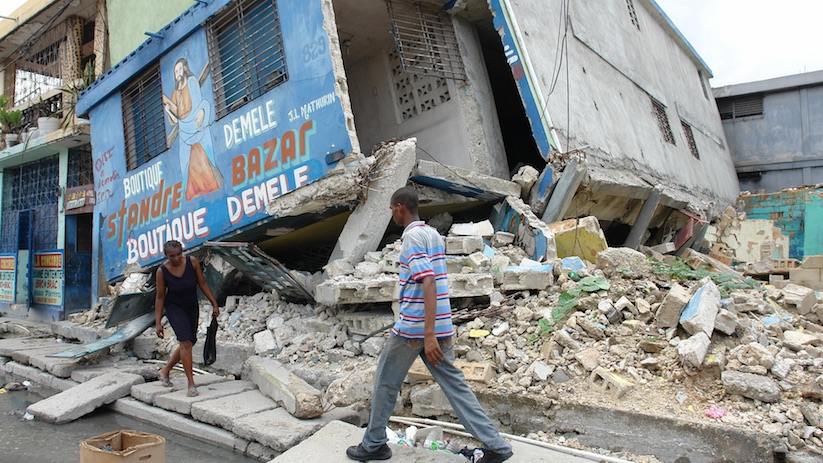 The 2010 Haiti earthquake was a    catastrophic       magnitude 7.0 Mw    earthquake, with an    epicenter    near the town of    Léogâne    (   Ouest   ), approximately 25 kilometres (16 mi) west of    Port-au-Prince   ,    Haiti   's capital. By 24 January, at least 52    aftershocks    measuring 4.5 or greater had been recorded.An estimated three million people were affected by the quake.[9] Death toll estimates range from 100,000[5] to about 160,000[4] to Haitian government figures from 220,000[10][11] to 316,000; The government of Haiti estimated that 250,000    residences    and 30,000    commercial buildings    had collapsed or were severely damaged. [   MORE   ]