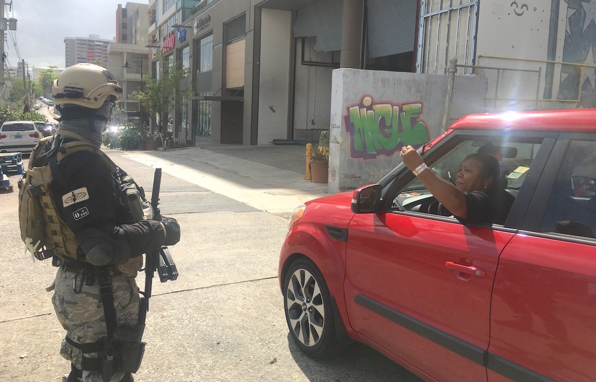 BLACKWATER MERCENARY COPS roaming the streets WITH NO IDENTIFICATION DEPUTIZED BY DOGGY TO CARRY MACHINE GUNS IN PUERTO RICO AFTER THE HURRICANE    EVENT   .  DOC Blynd explains that cell phones are communication devices that inmates use to talk to one another and to those out in the bigger prison.