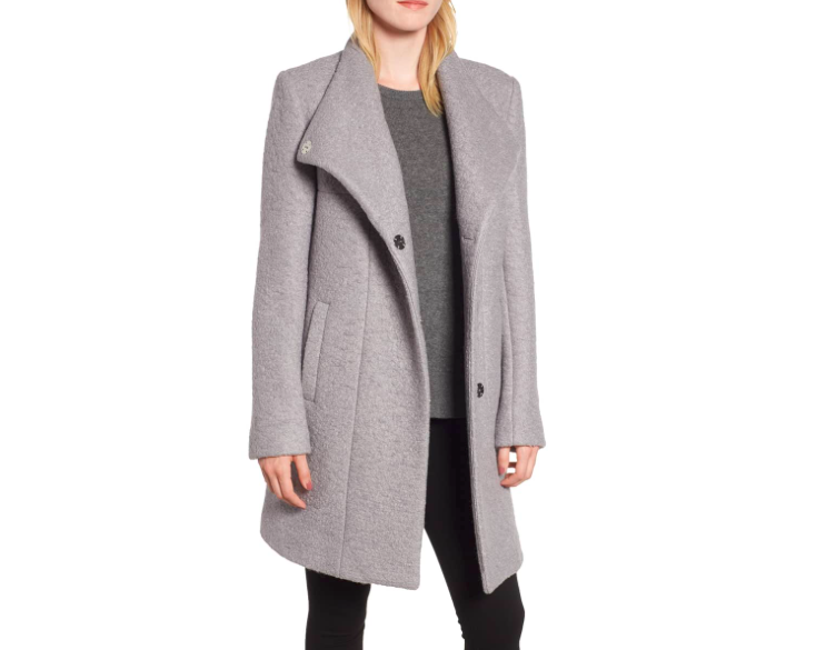 kenneth cole ny pressed bouclé coat