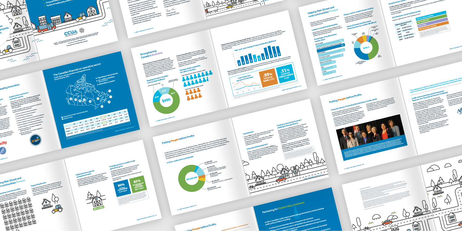 A PORTION OF THE 22-PAGE COMMUNITY AND ECONOMIC IMPACT REPORT DESIGNED FOR CCUA.
