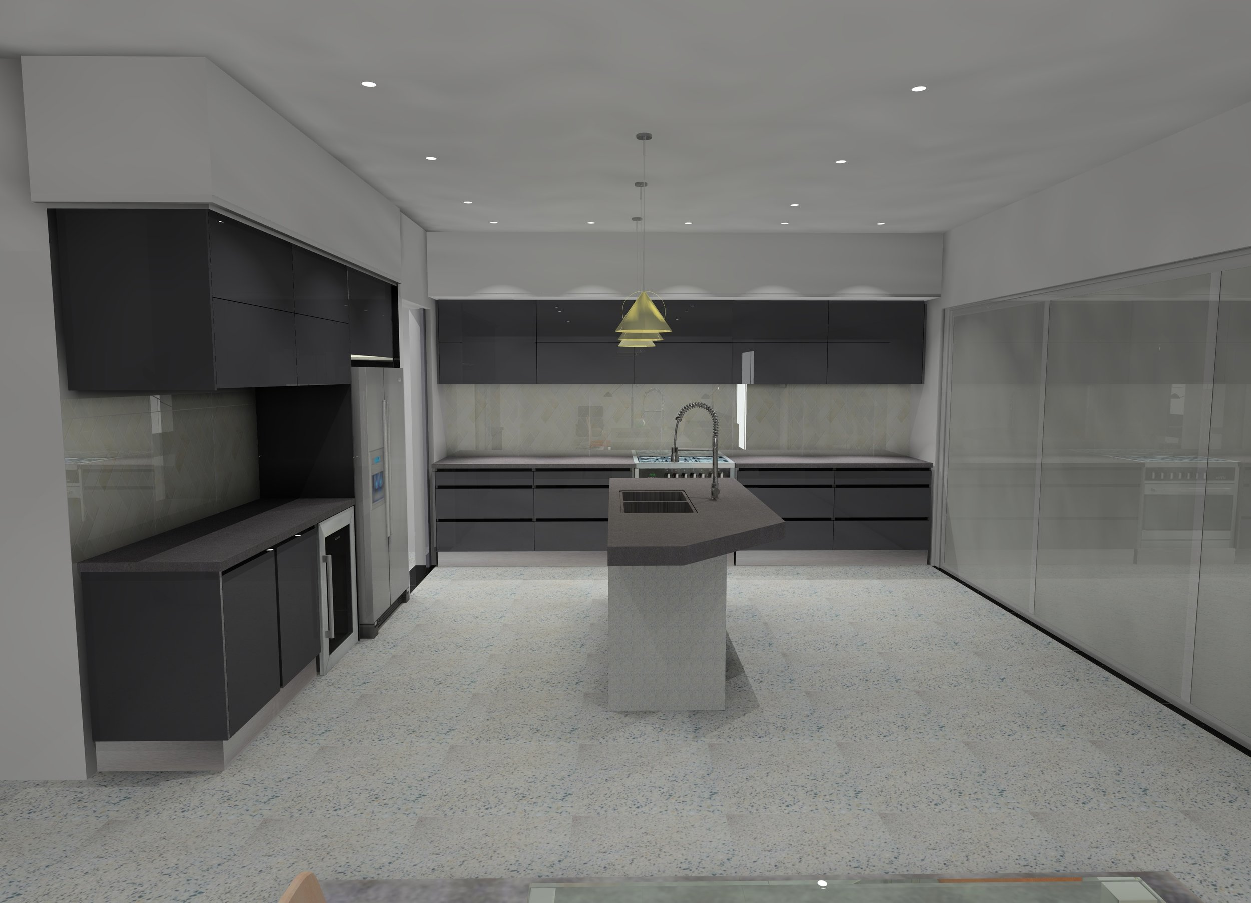 - An owner builder has asked us to design the whole house , we started with the kitchen ----