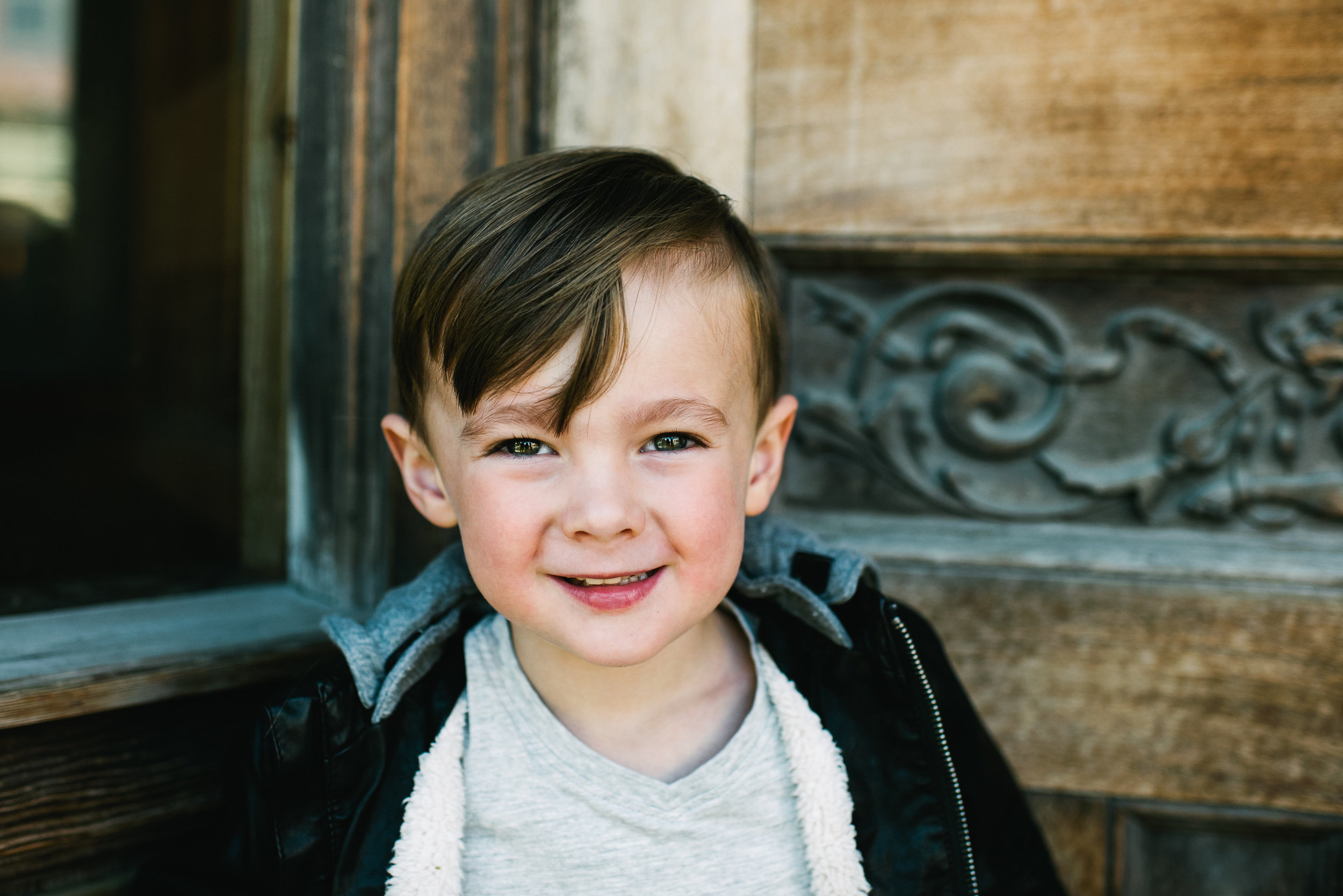 Anders - At four years old, he is kind, warm and caring.  He is full of questions and happily goes with flow.  He's an old soul that loves just about everything and wakes up every day ready to see all the good in the world.