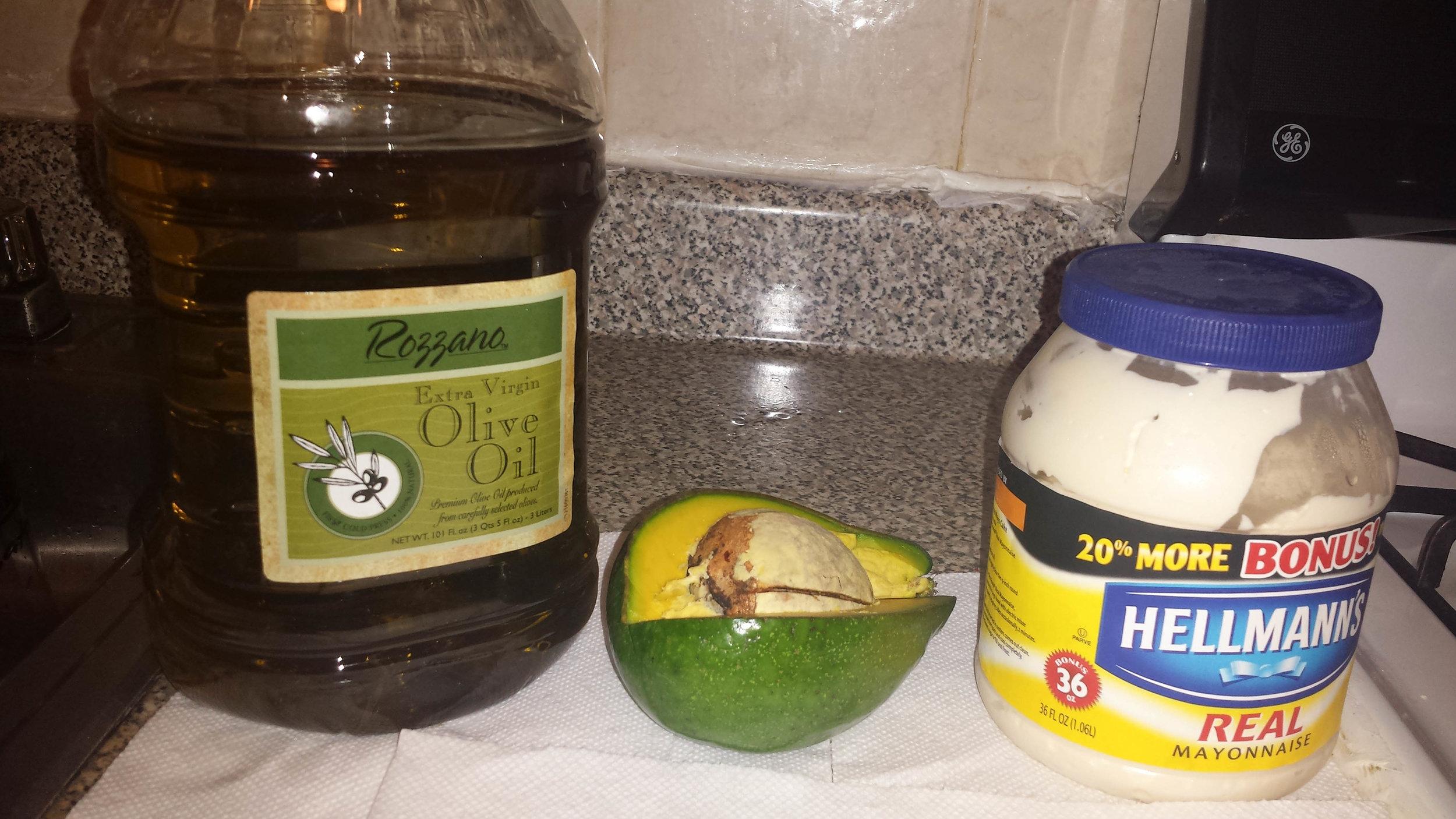 Olive Oil, Avocado, Mayo