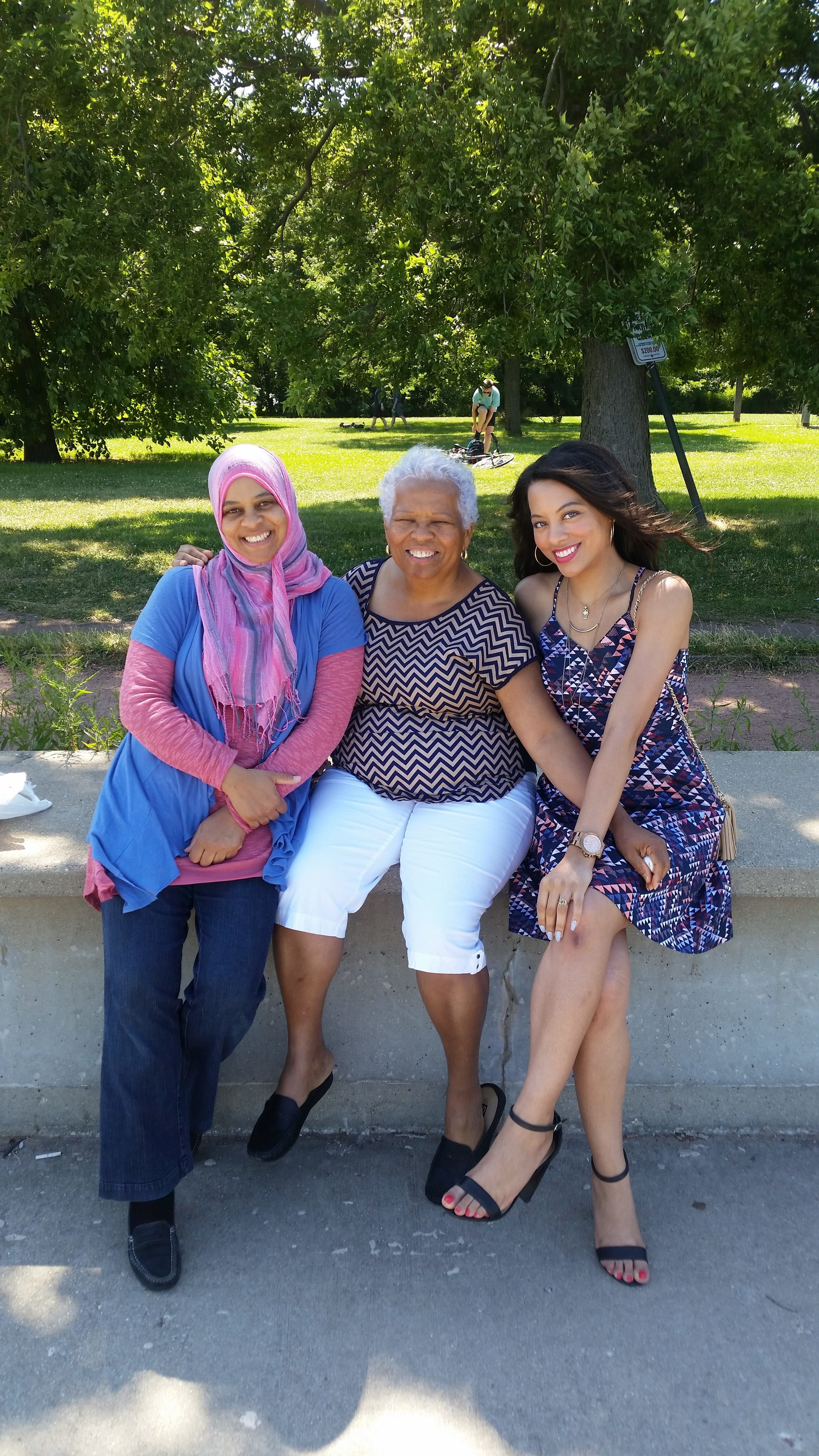 My aunt, grandmother and I