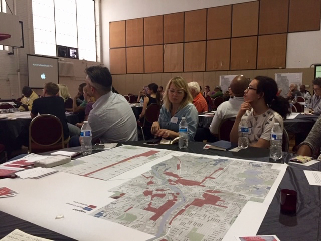 Participants learning about redlining and racial covenants at a community conversation at Sabathani Center in South Minneapolis.