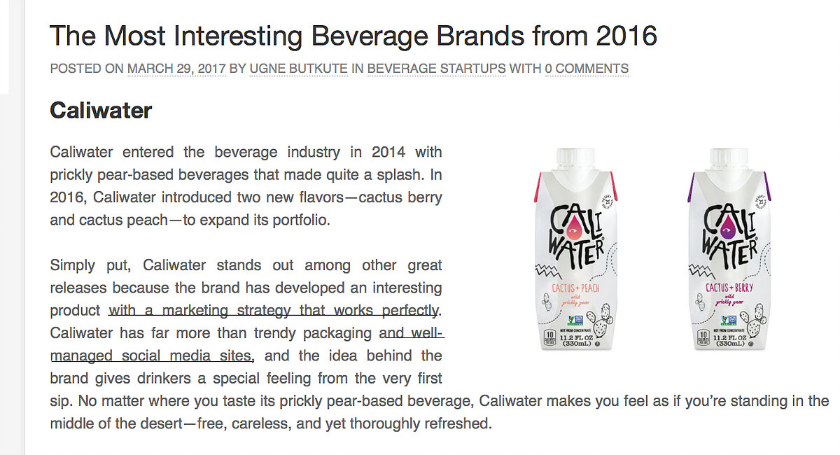 Drinkpreneur Feature