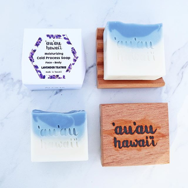 Moisturizing Cold Process Soaps are fully restocked at www.auauhawaii.com✨ Get your free Cedar Soap Dish with purchases ❤️ *only 30 soap dishes available 🙏🏽