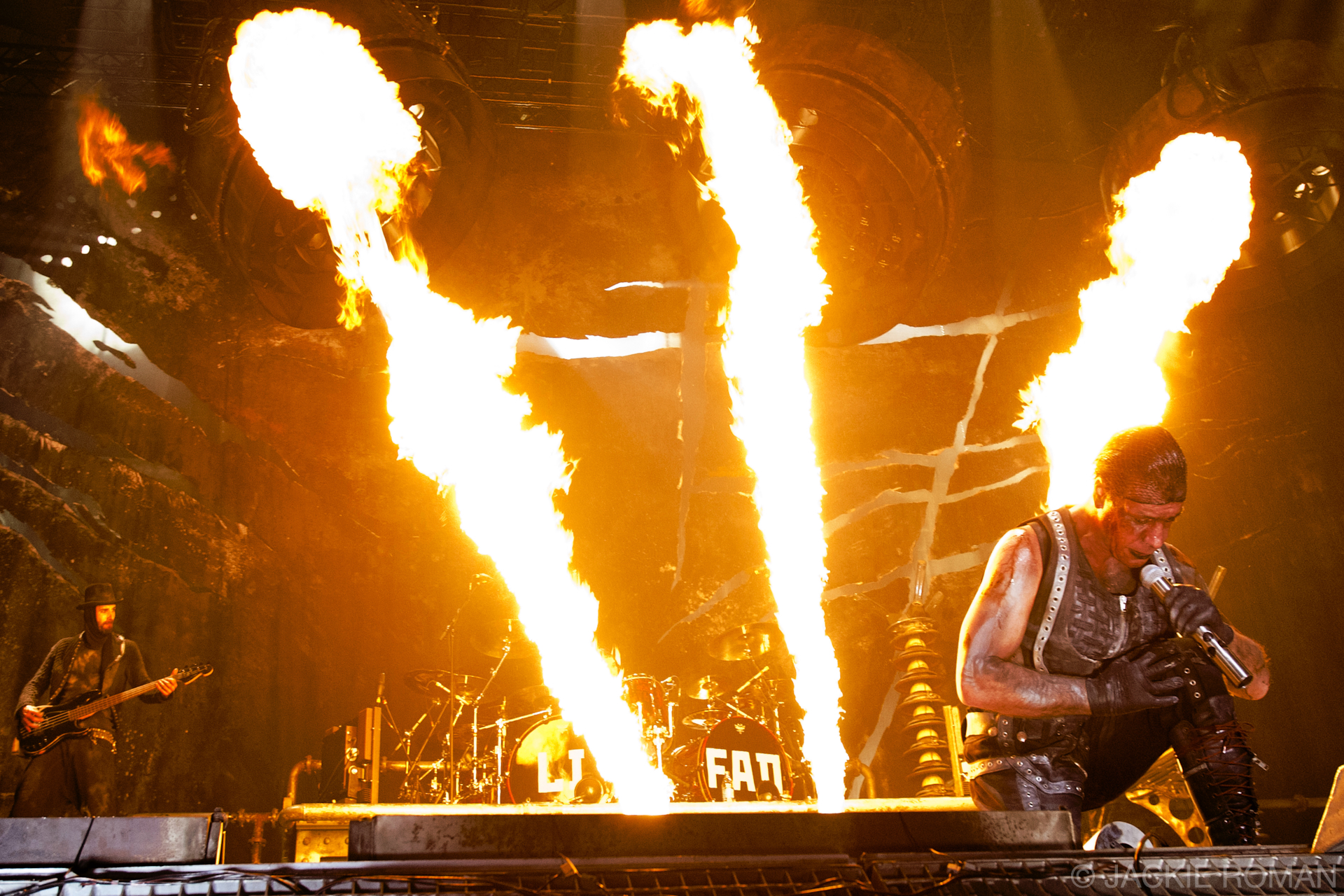 Rammstein performing at Madison Square Garden, New York, December 11, 2010.
