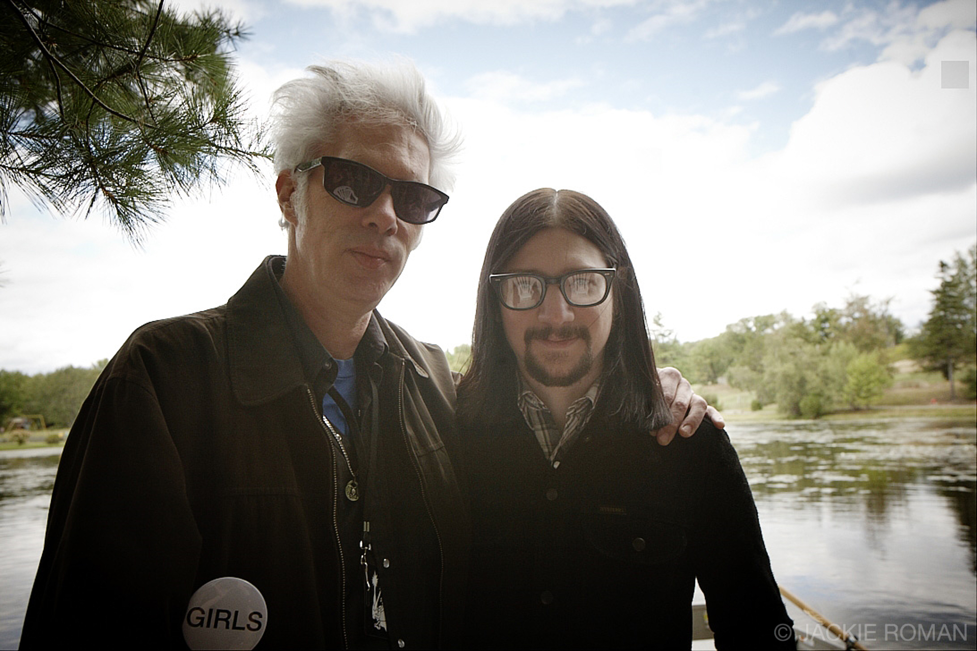 Jim Jarmusch and Jack Lawrence at the All Tomorrow's Parties  festival in Monticello, NY, September 5th, 2010.