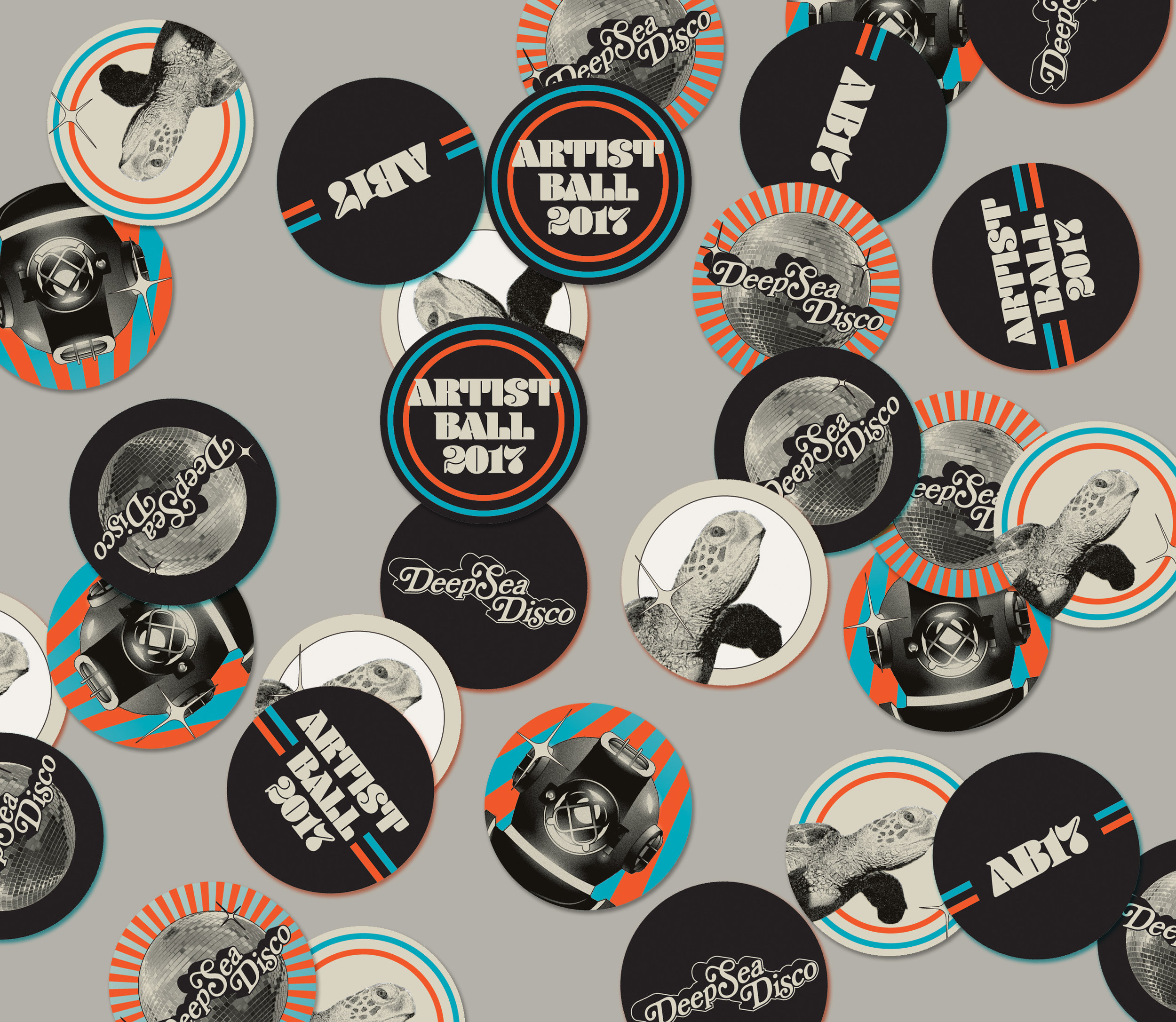Stickers designed by Jacob Poindexter