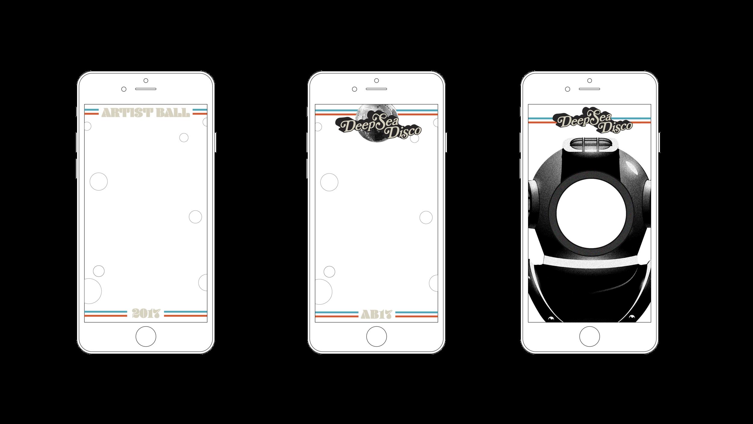 Snapchat filters designed by Stephanie Winarto