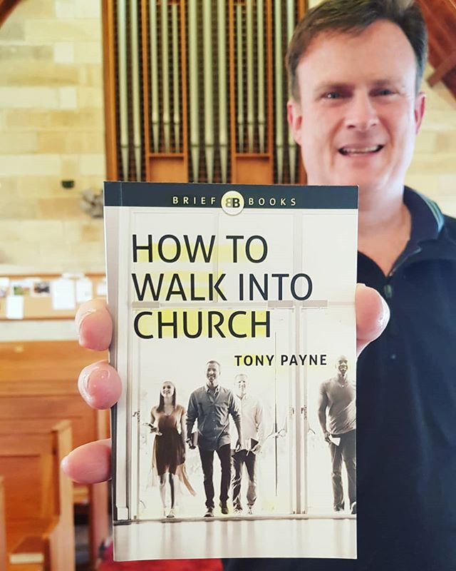 """He [Tony Payne] suggests a way to walk into church that beautifully expresses what church is and why you're there"". Talk to Stephen if you would like a copy of this awesome book! #howtowalkintochurch"