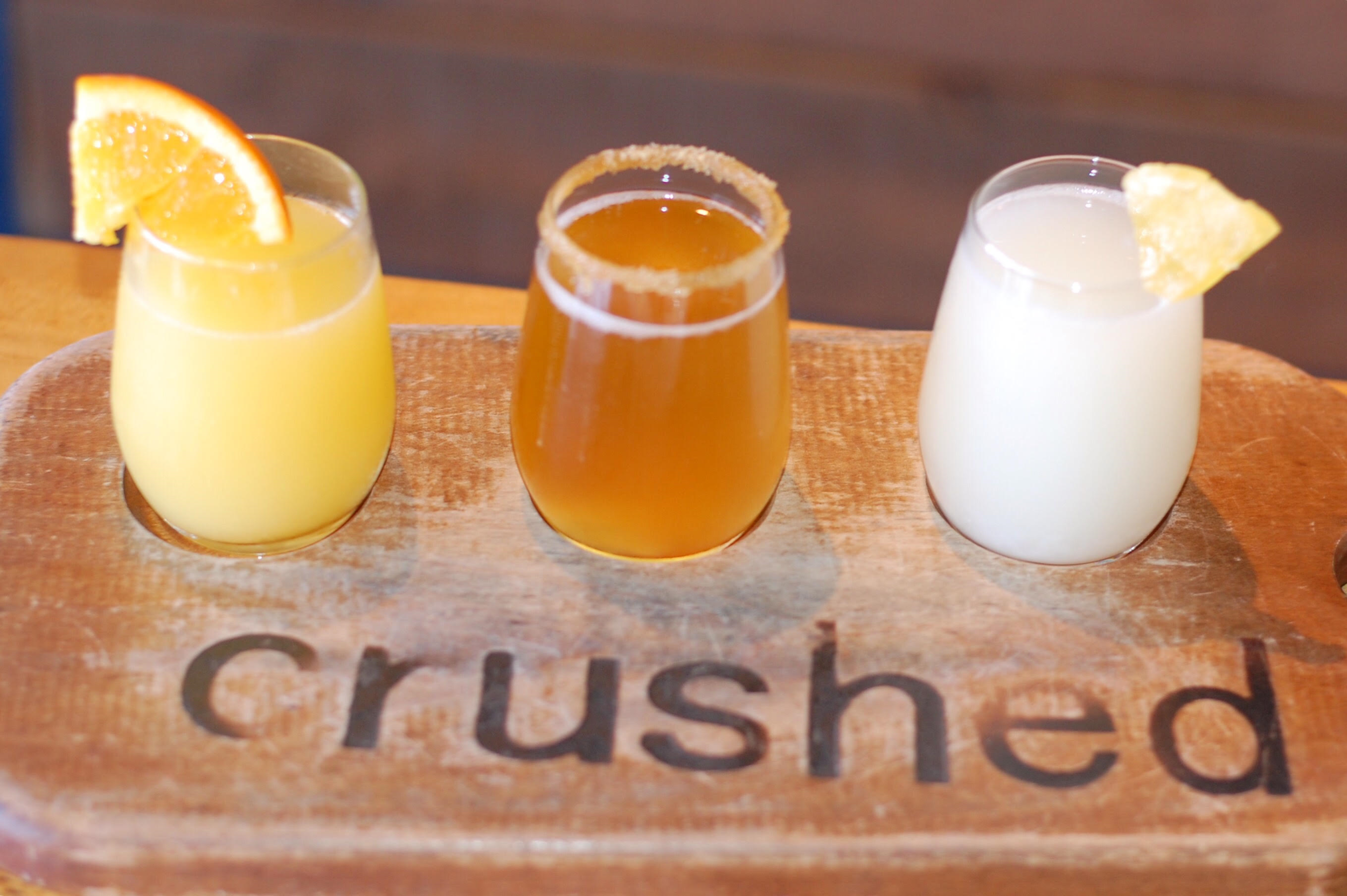 7. Crushed: Mimosa Flights - Crushed, located in Pacific Beach, was made famous for their photogenic mimosa flights. These flights blew up on Instagram, as everyone wanted 'that' photo. They taste as good as they look with their unique flavors- classic with fresh OJ, apple cider, pina colada, lavender, rosemary, and elderflower! In addition to the best mimosas, Crushed also has tasty bites to go along with the sips! Bennies are the most popular dishes here. We had the prosciutto bennie (benedict), along with their stinky goat cheese flatbread! (Ally from GoSeekExplore pictured above with me!)