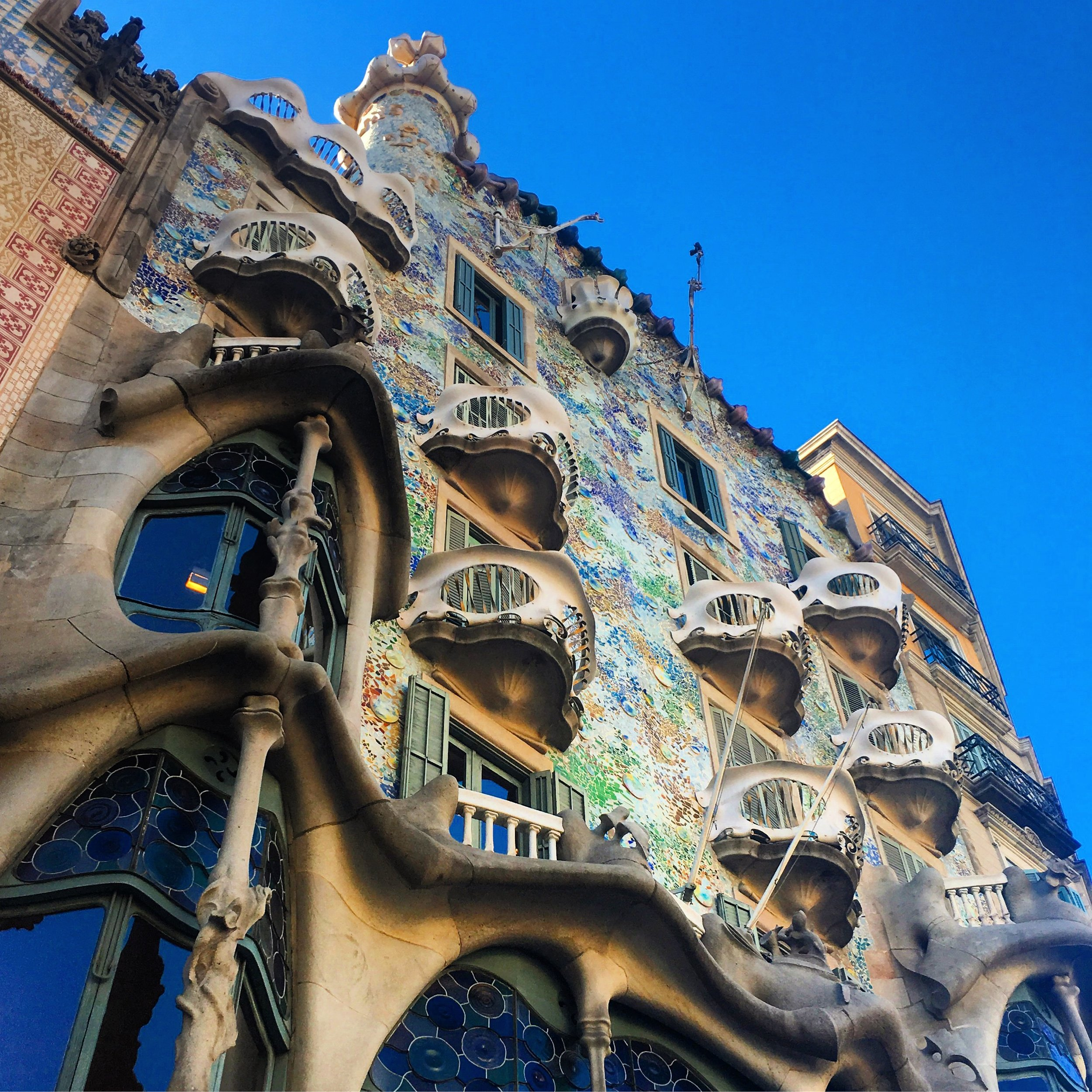 Gaudi's art on the buildings throughout the city