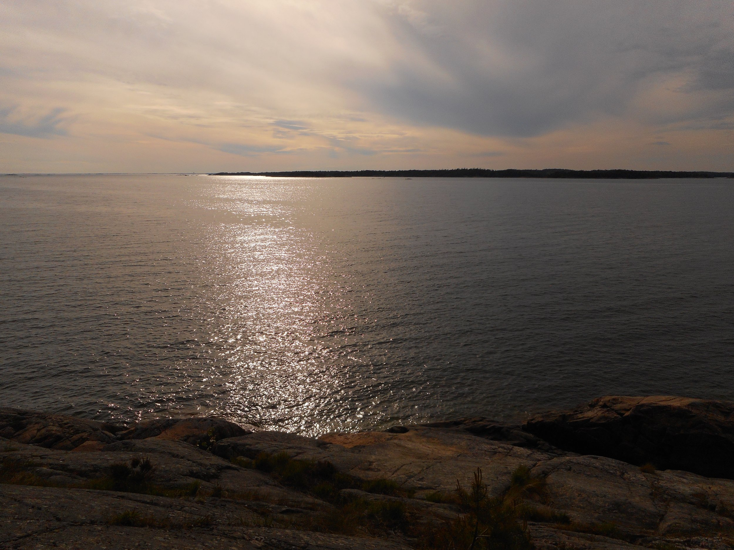Seascape in Porkkala during nature trip