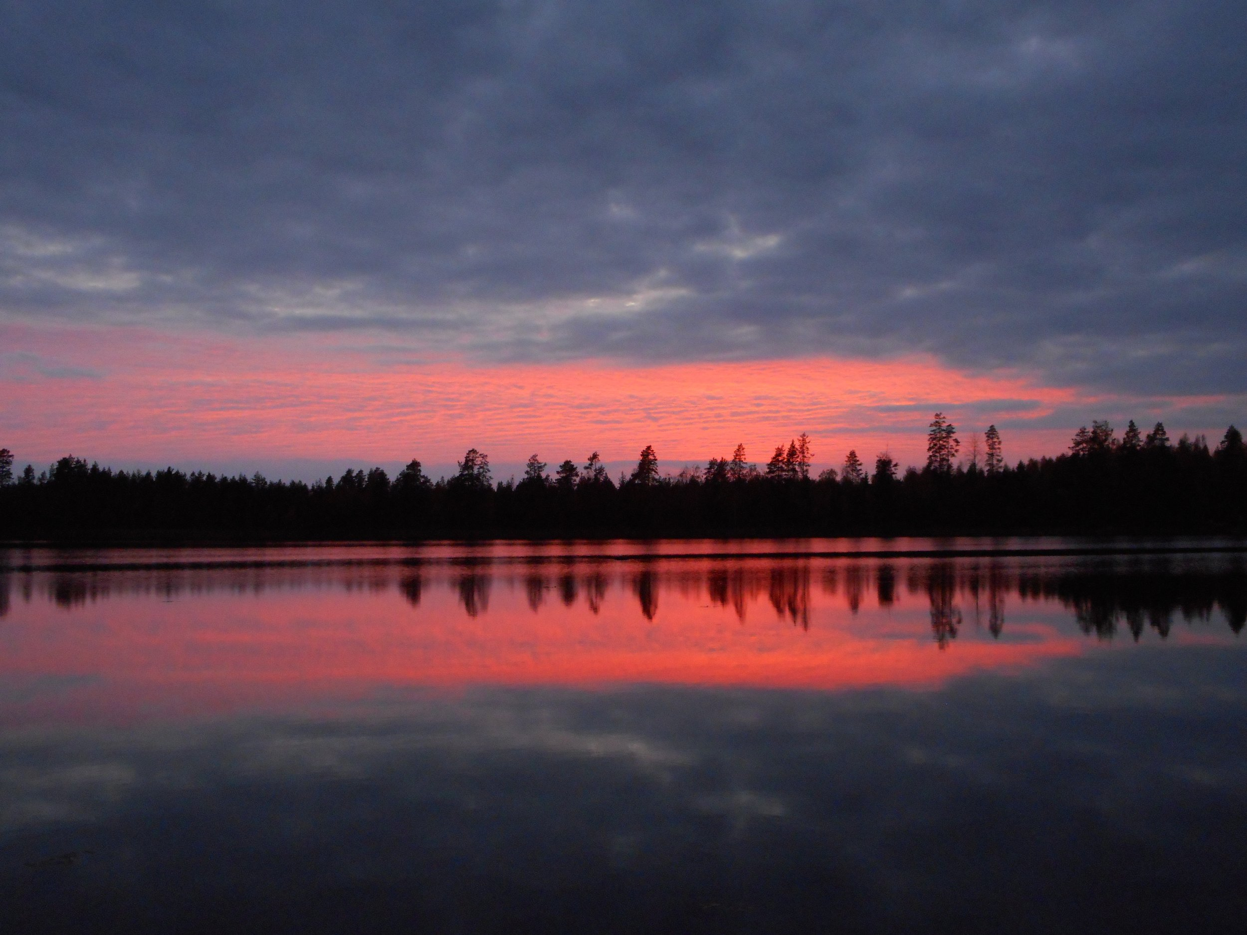 sunset in Finland beautiful colorful sky