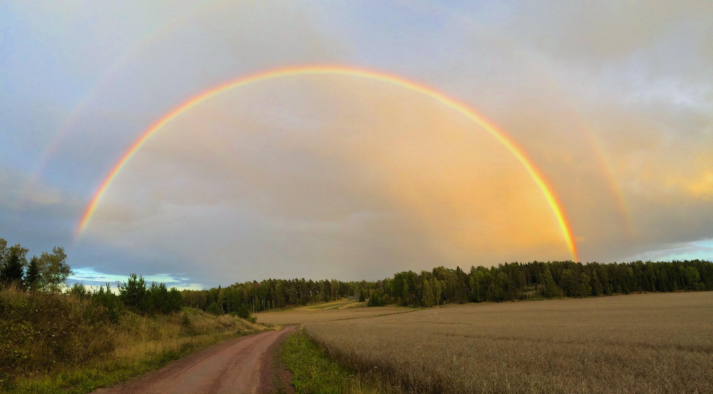 Rainbow in Porkkala close to Helsinki