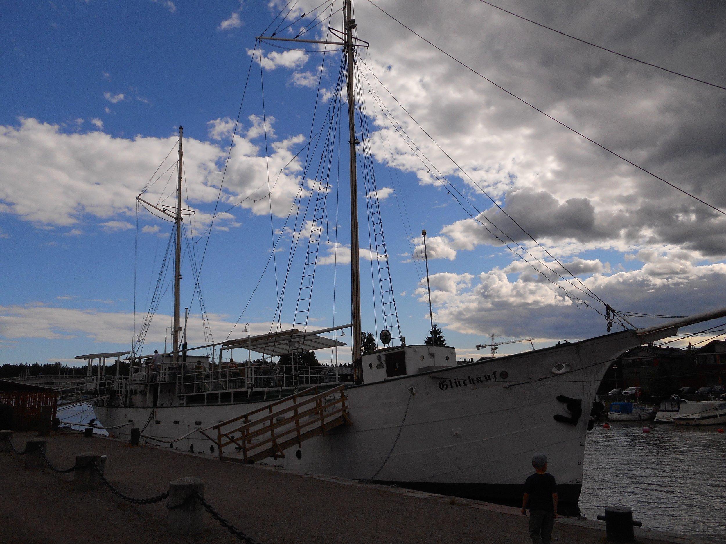 Old sailing ship in Porvoo harbour