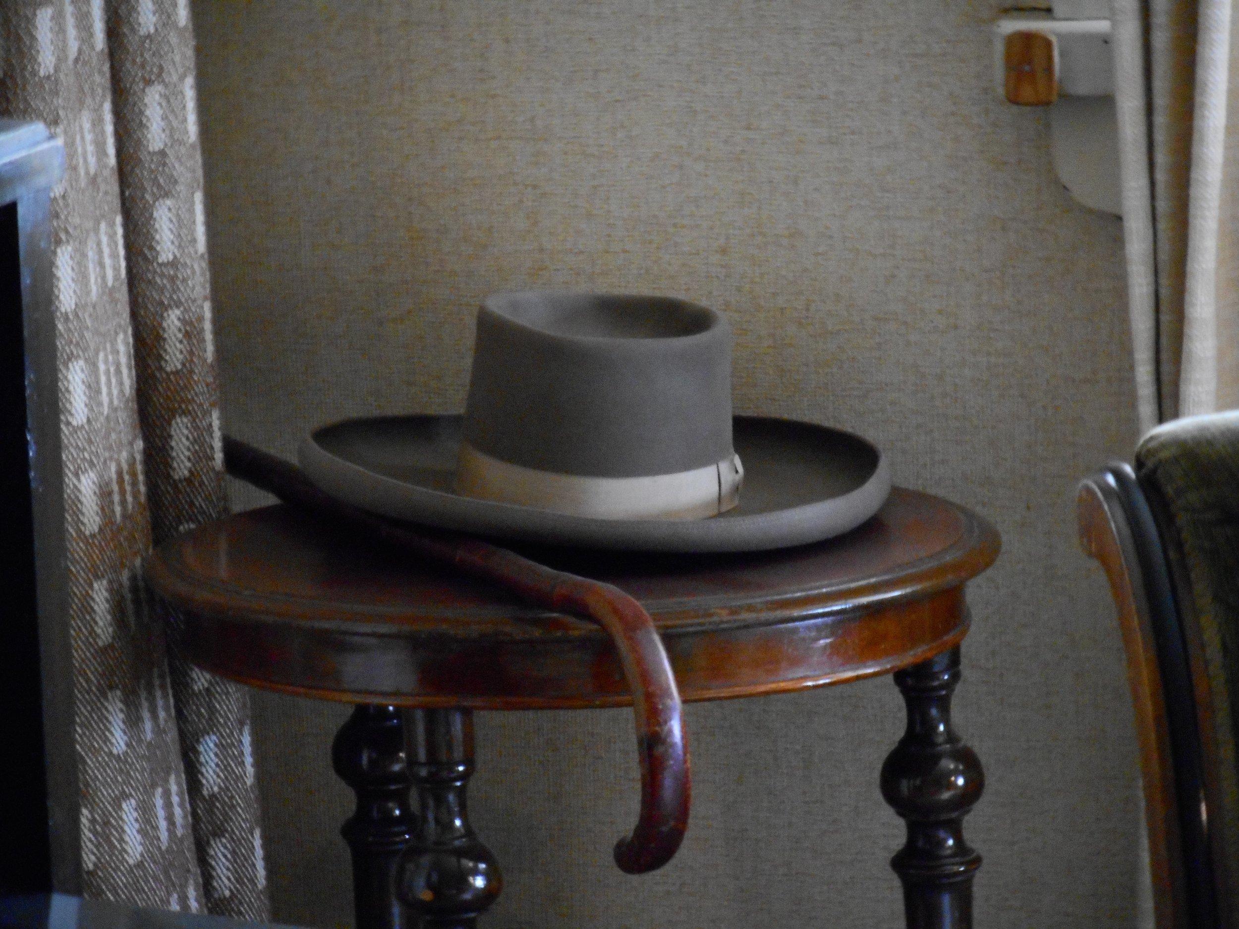 hat and walking stick of Jean Sibelius Ainola Sibelius museum