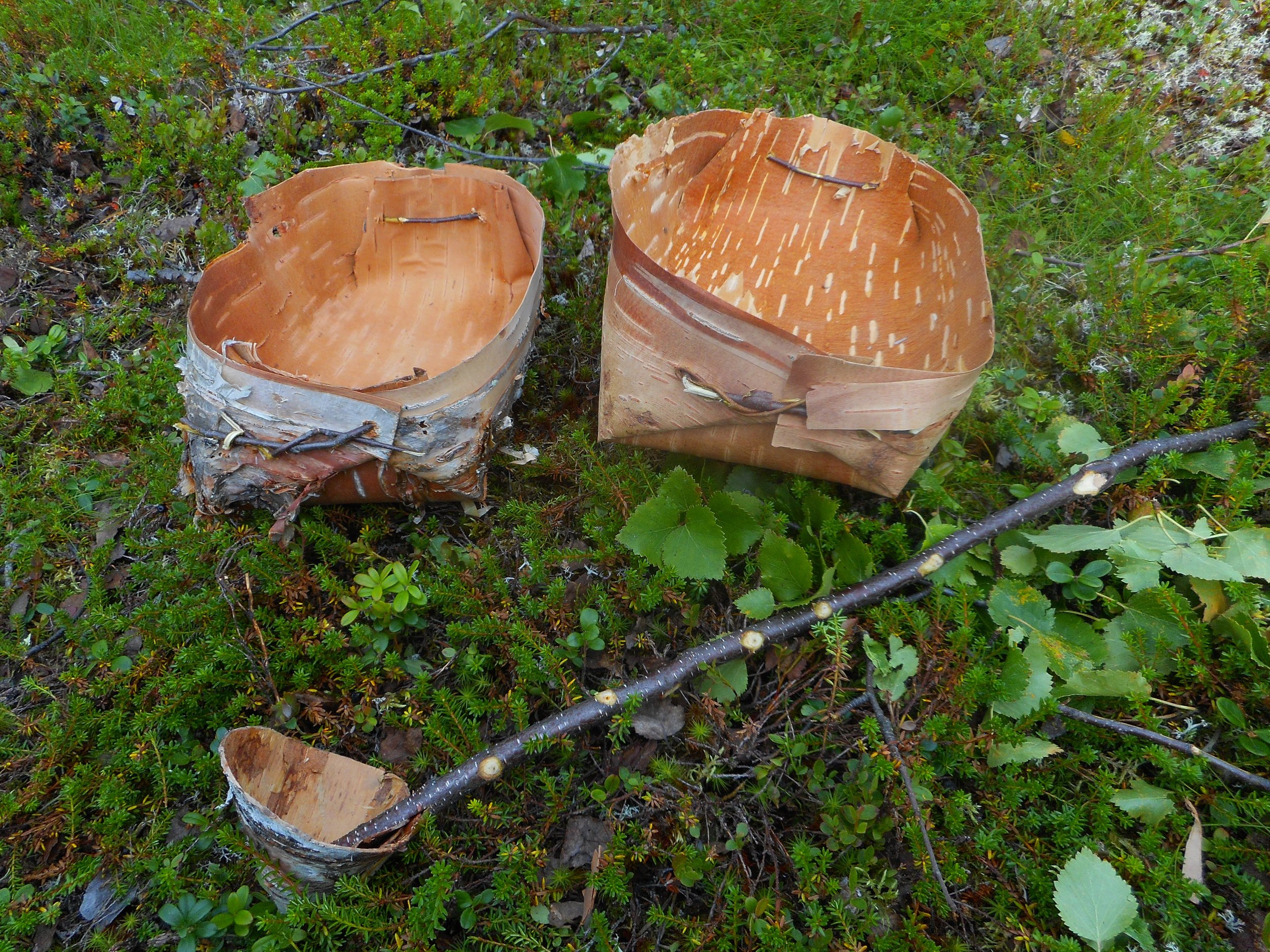 wooden handcraft old survival skills in Finland