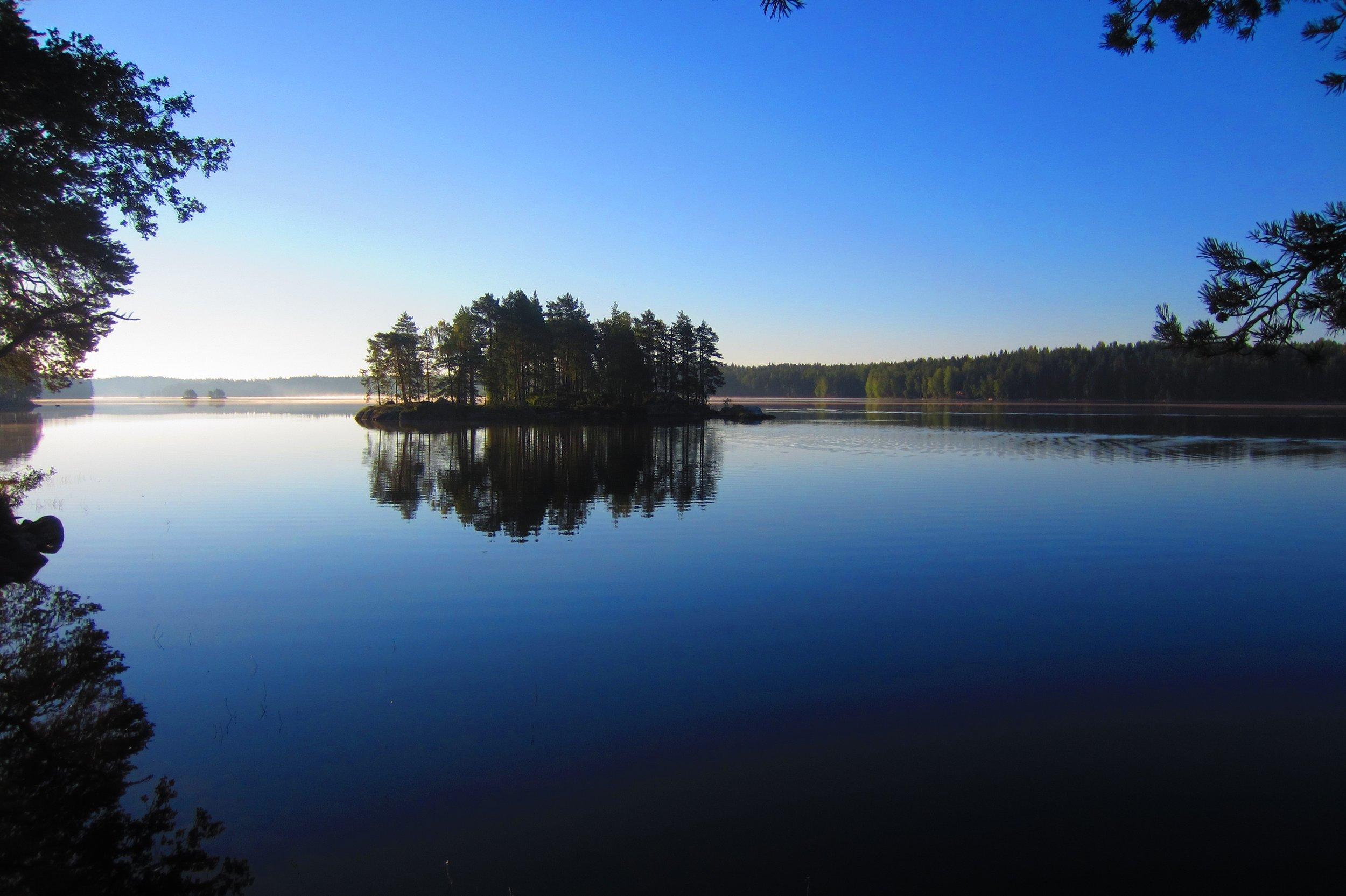 Beautiful morning nature trips Finland