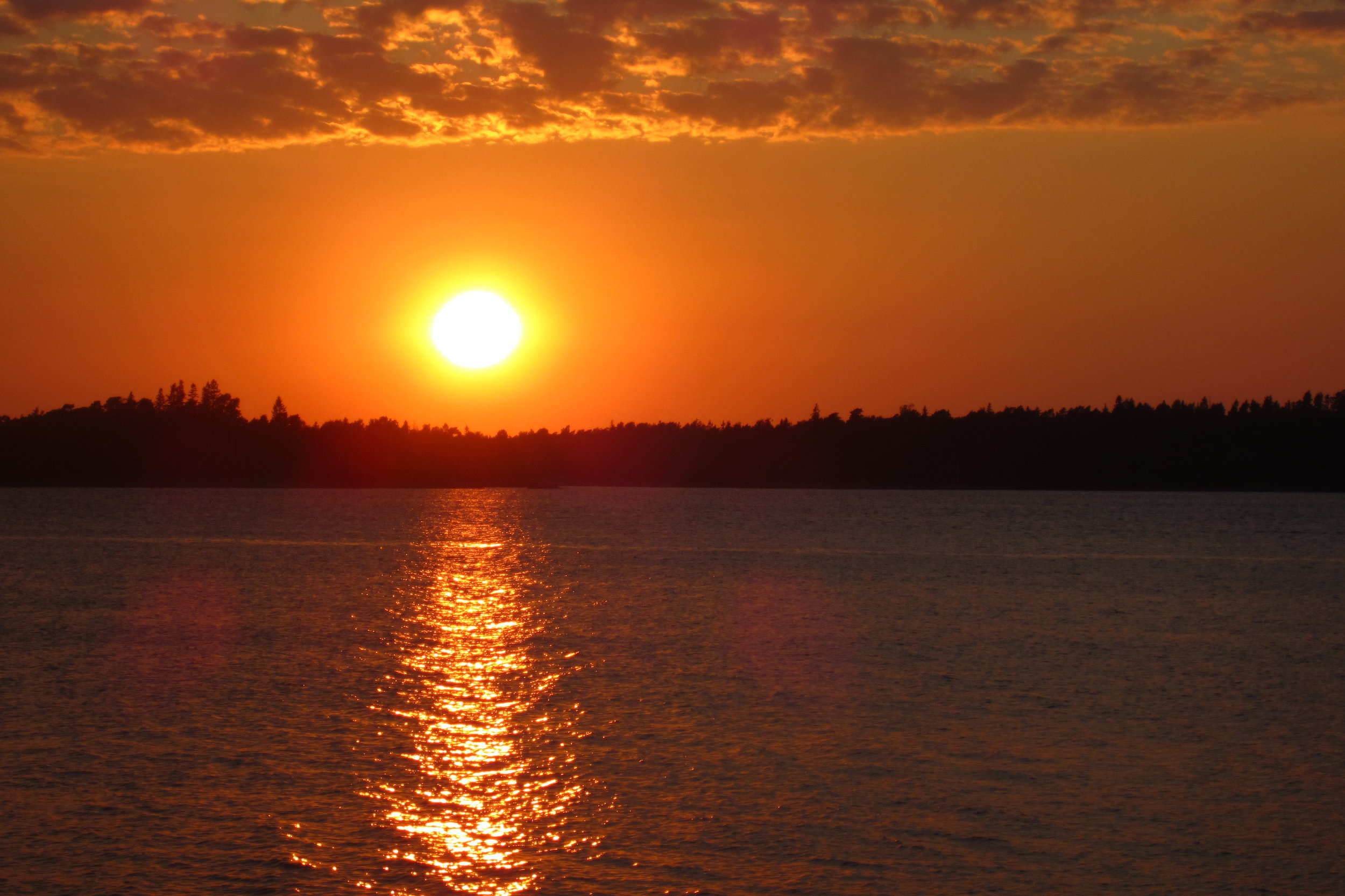 Sunset during nature trip close Helsinki