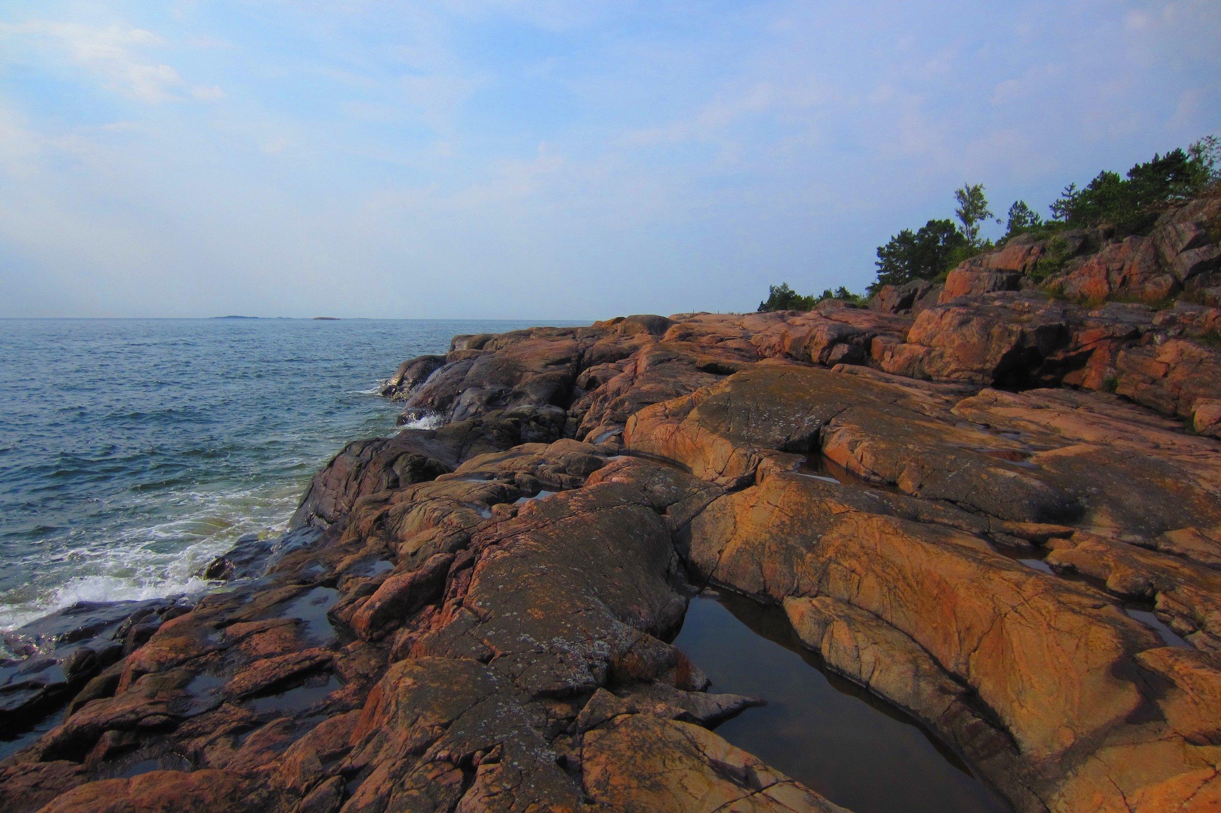 Rocky coastline in Porkkala