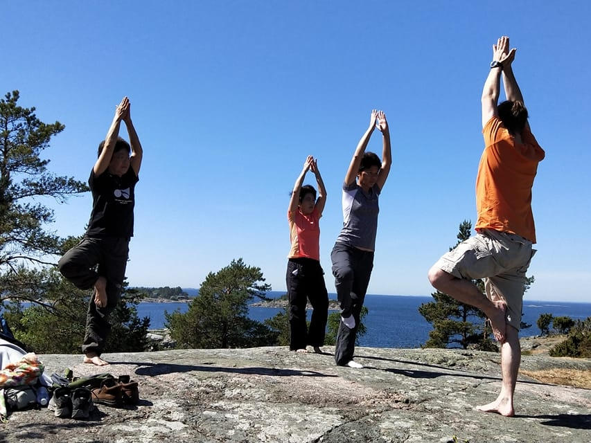 Nature trip and forest yoga in Porkkala