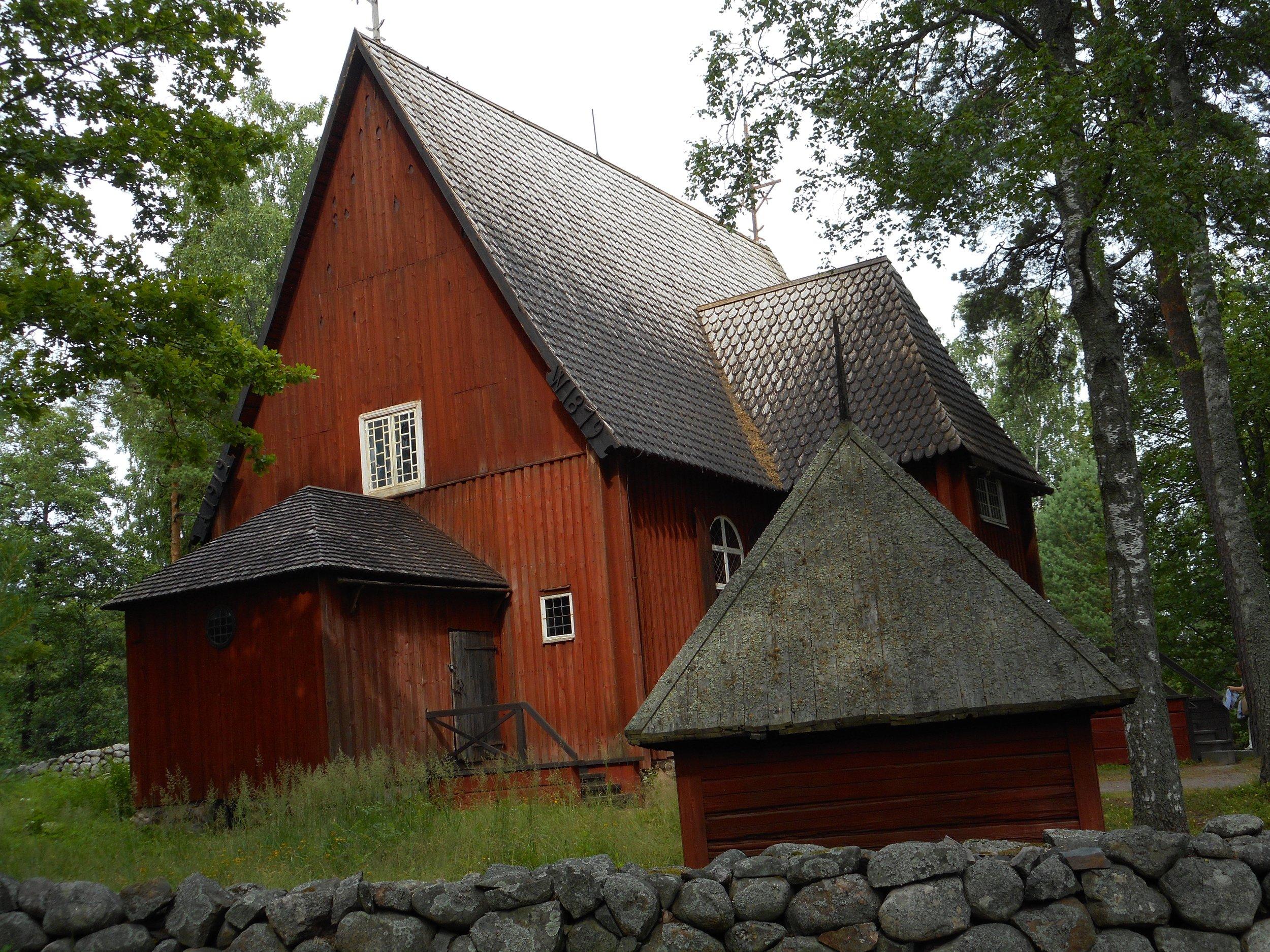 Old  wooden church  in  Seurasaari  was built in 1685.