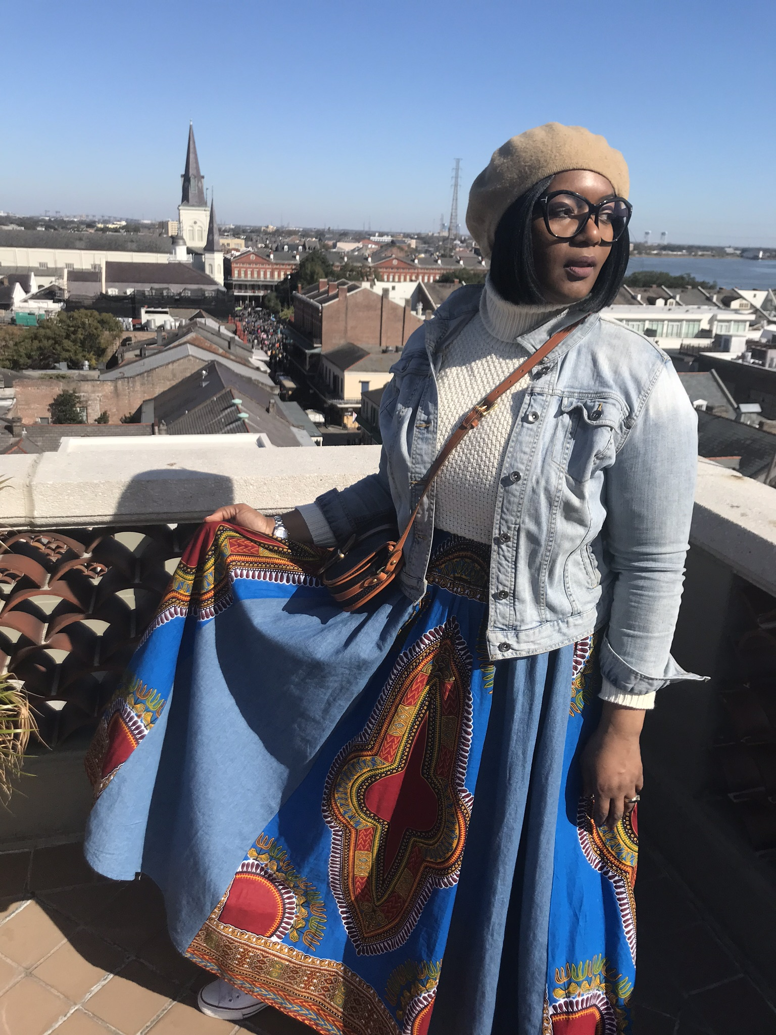 I love African print maxi skirts!! - Wear it year round- with a simple medium weight turtleneck and a jean jacket. It got mine from a vendor on a trip to Atlanta but I have others from digginherroots.com The length and weight is warm enough to keep the chill out -add leggings to bulk it up!