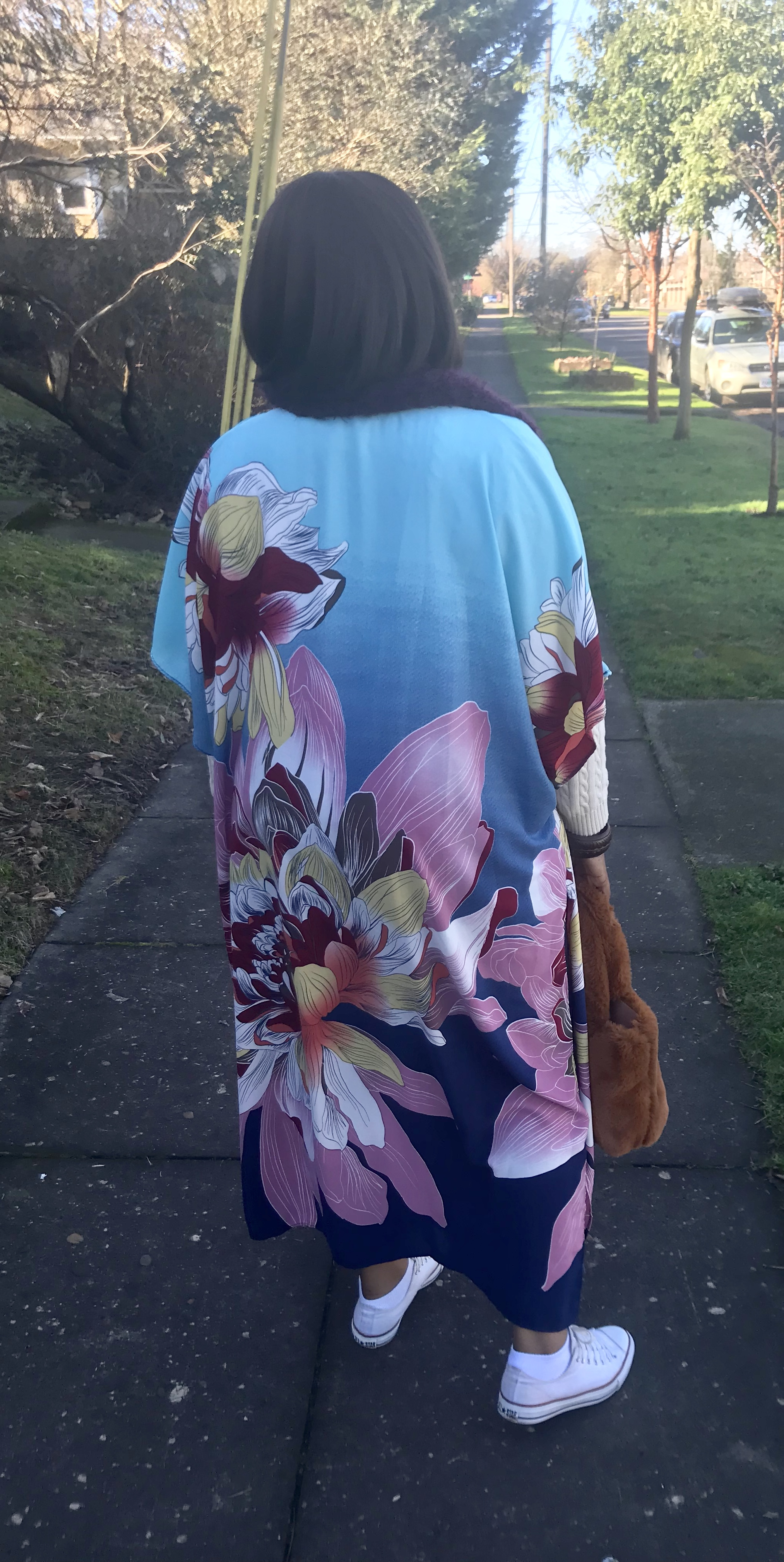 Caftans - Caftans are an easy way to add color and interest to an outfit year round without bulk of a coat this one is from fashionnova Throw it on, dress it up or down