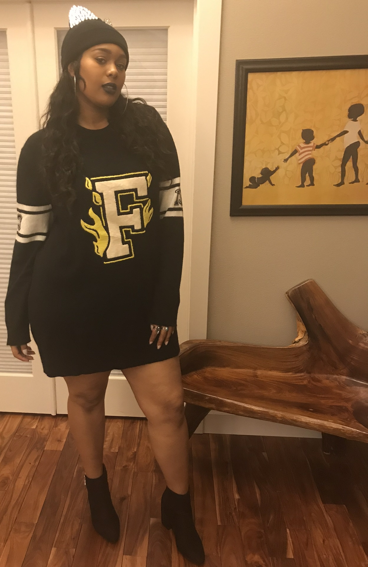 FENTY PUMA by Rihanna Longline Varsitysweater Fenty - Worn on its own or with legging or jeans - Love it!