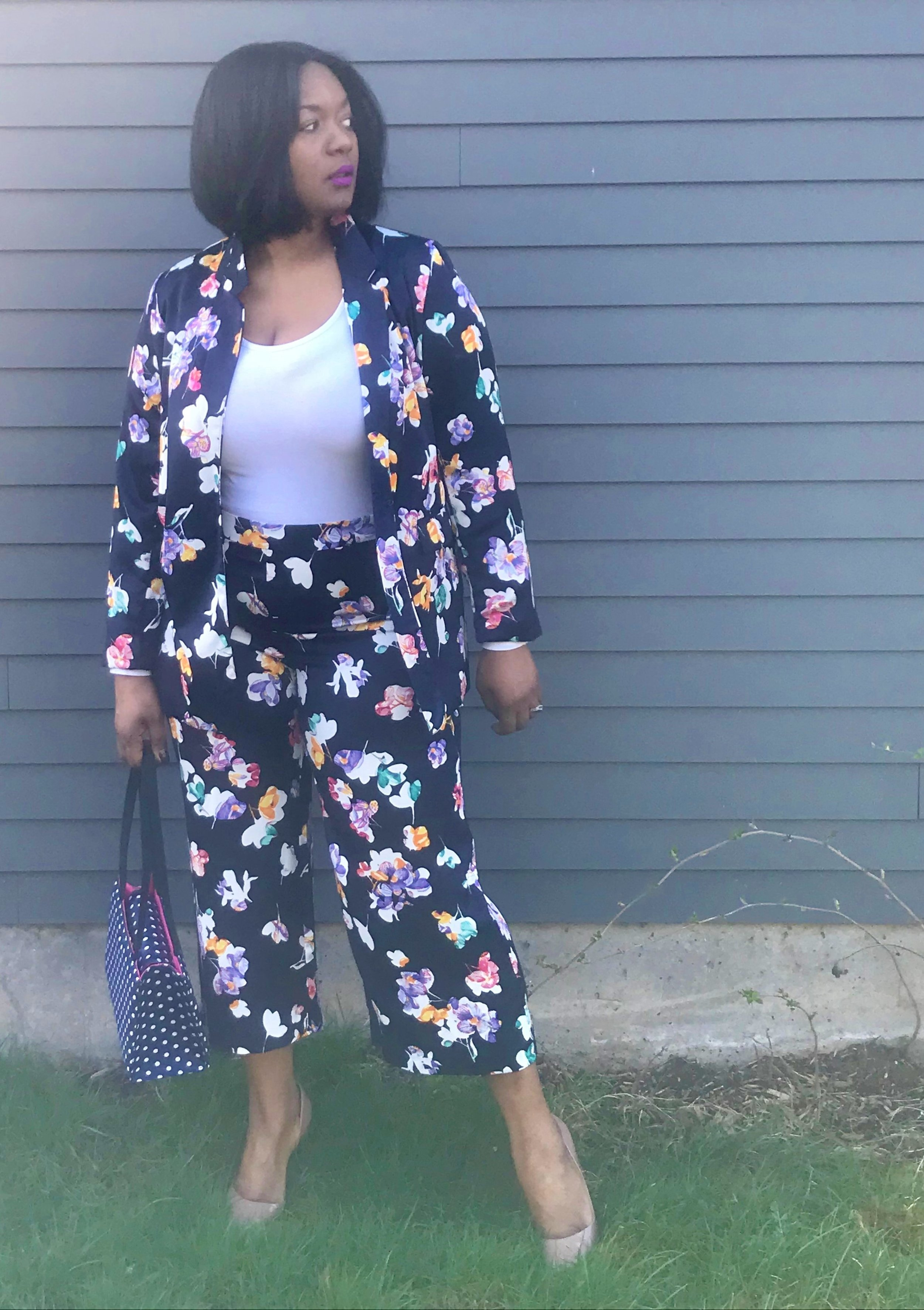 Floral Suit - Target has some great finds and are budget friendly this suite is from the A New Day Collection and is in stores and in their website now