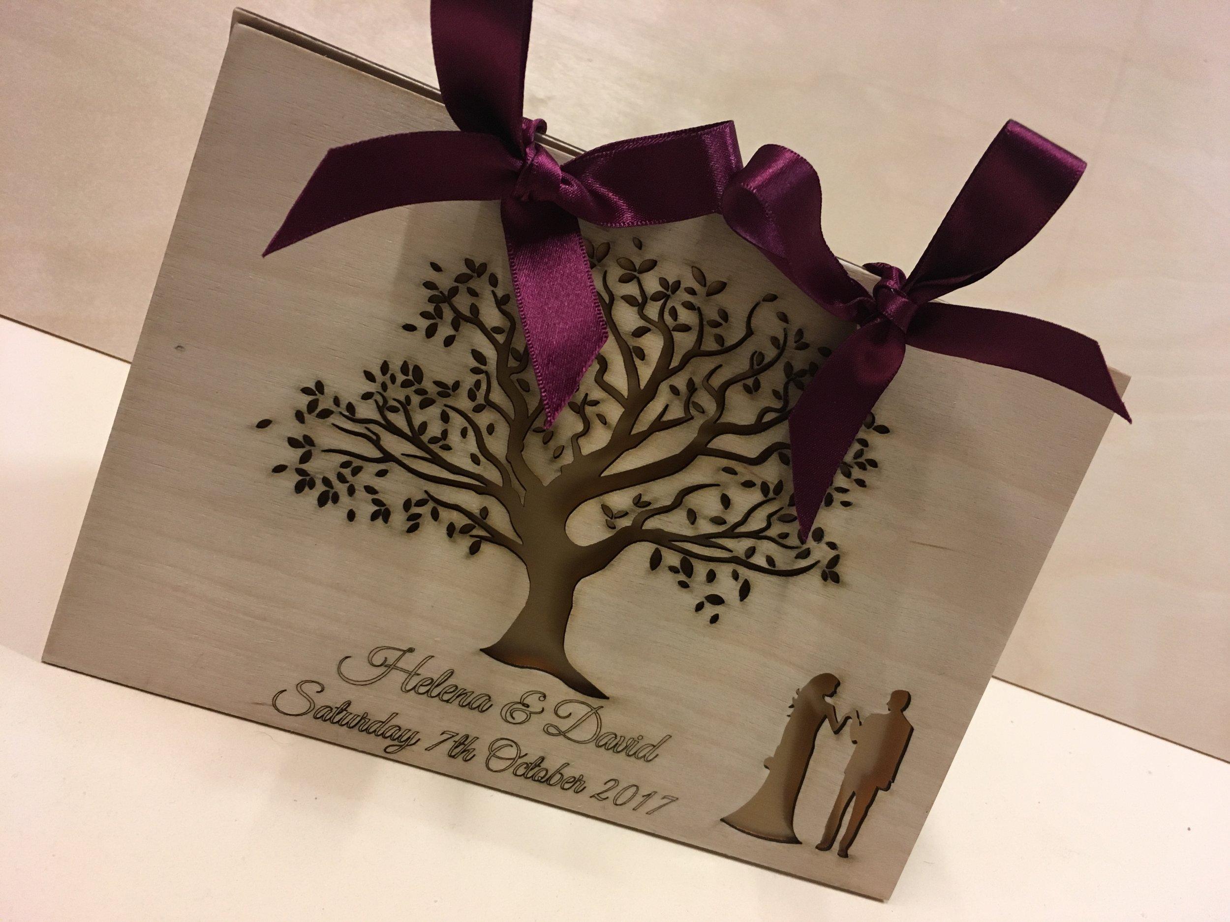 Beautiful custom wedding card for and outdoor wedding.