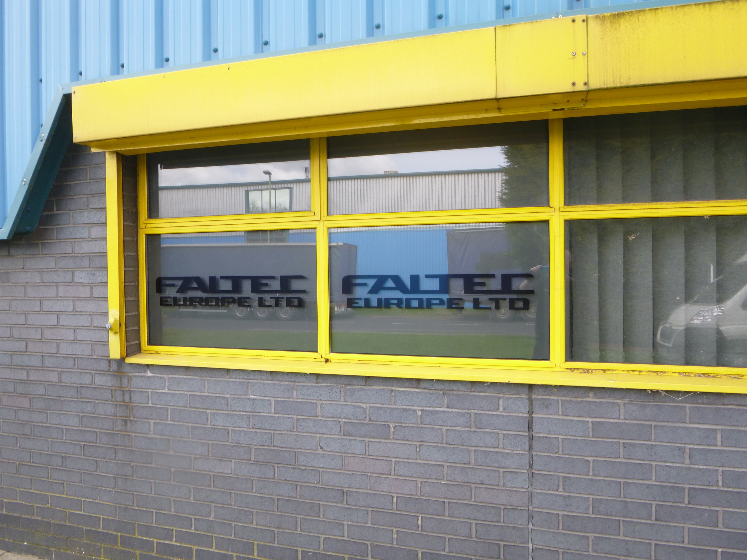 FALTEC   Print and cut window decals, fitted internally.