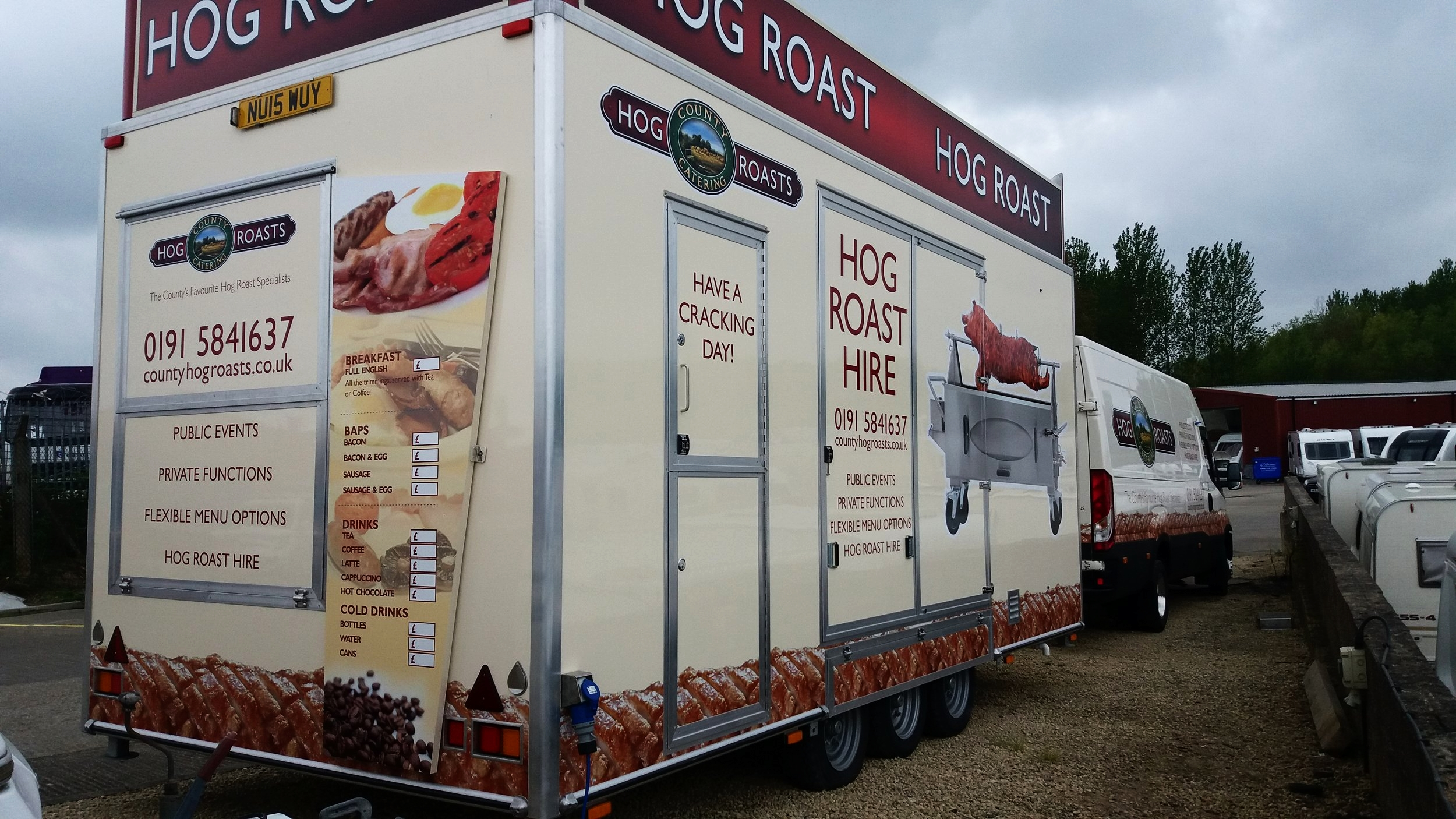 HOG ROAST CATERING TRUCK   The full wrap of catering truck for Hog Roasts Catering.