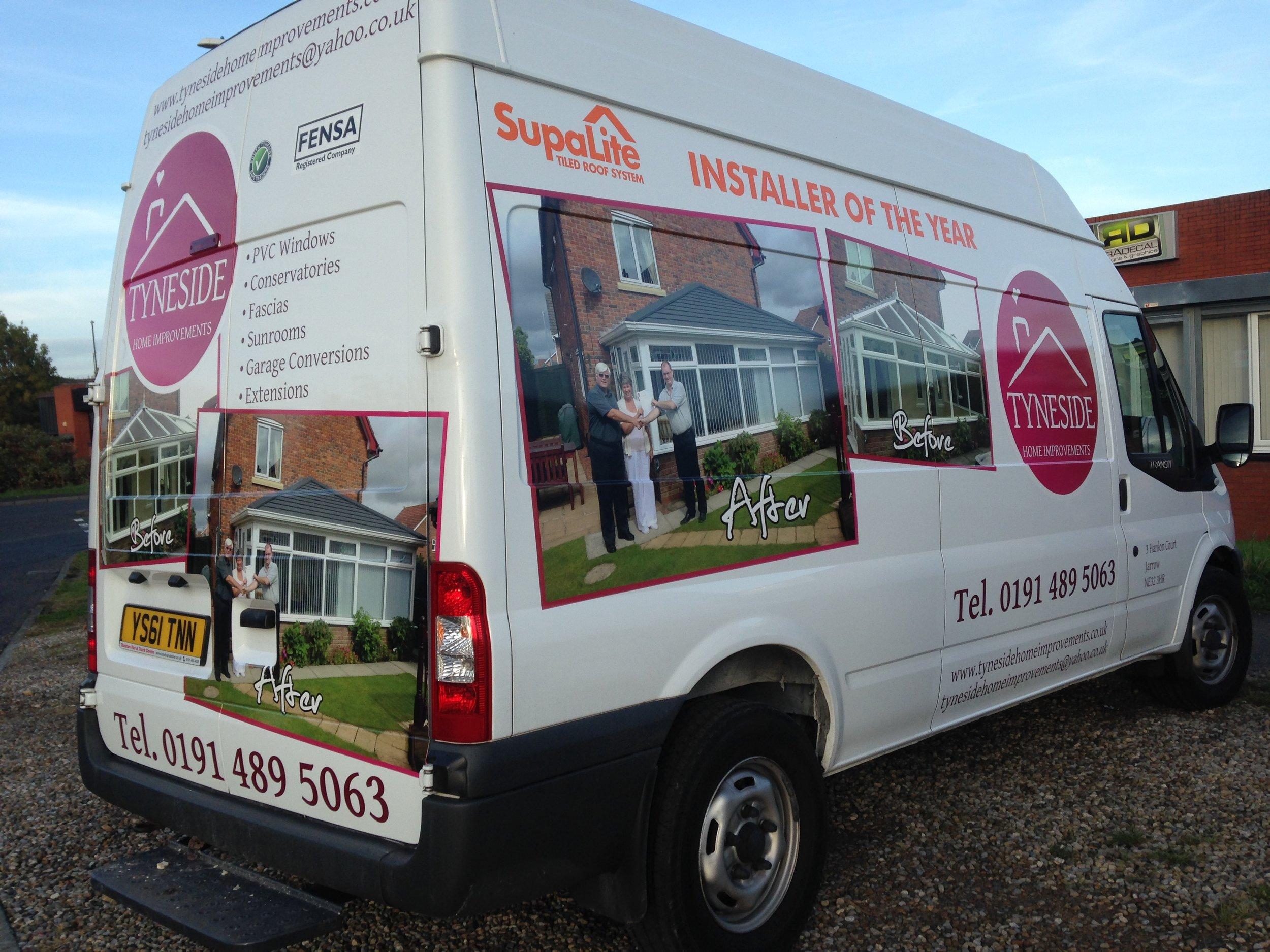 TYNESIDE HOME IMPROVEMENTS   Custom vehicle graphics.