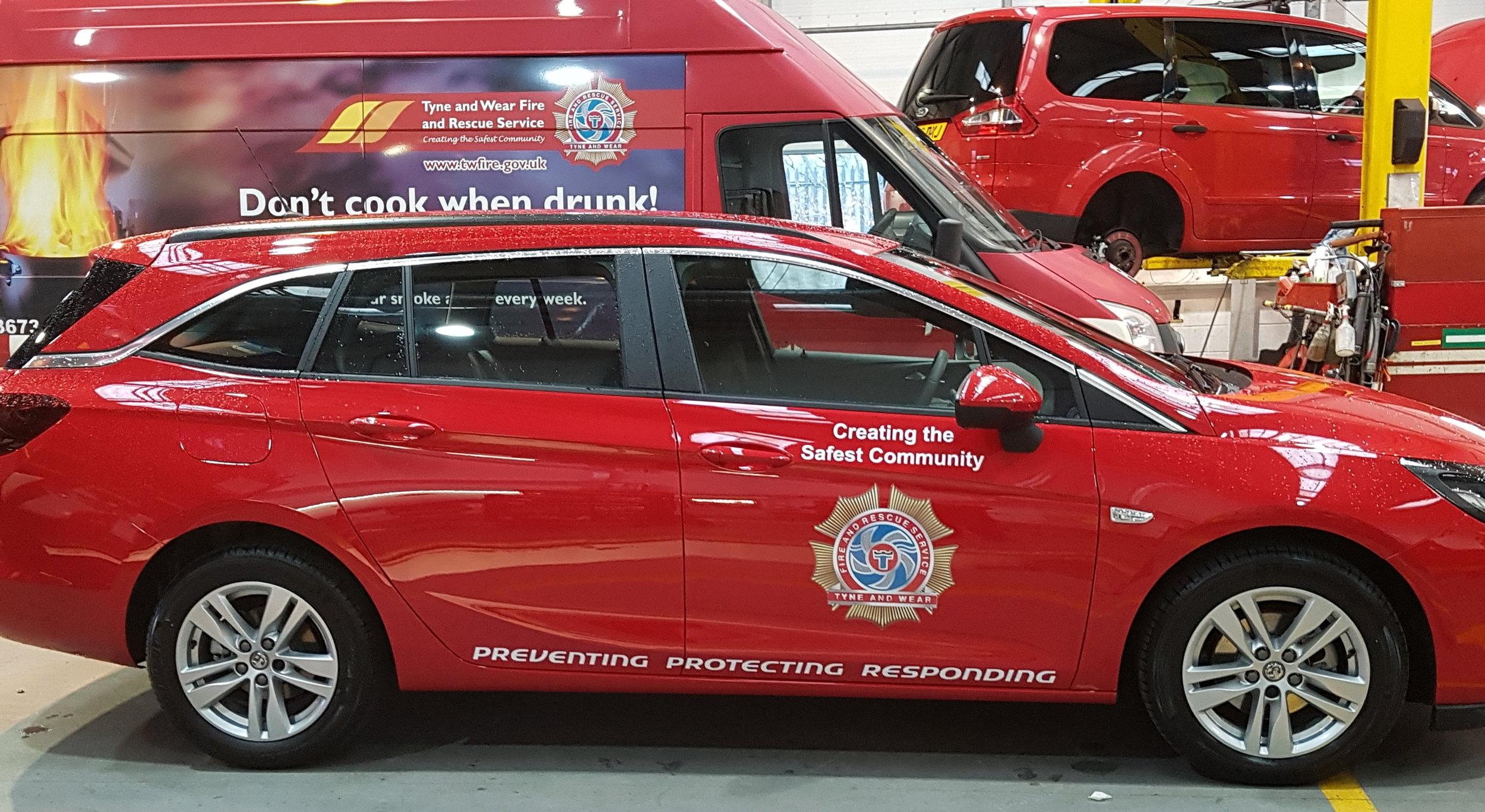 fire brigade van graphics