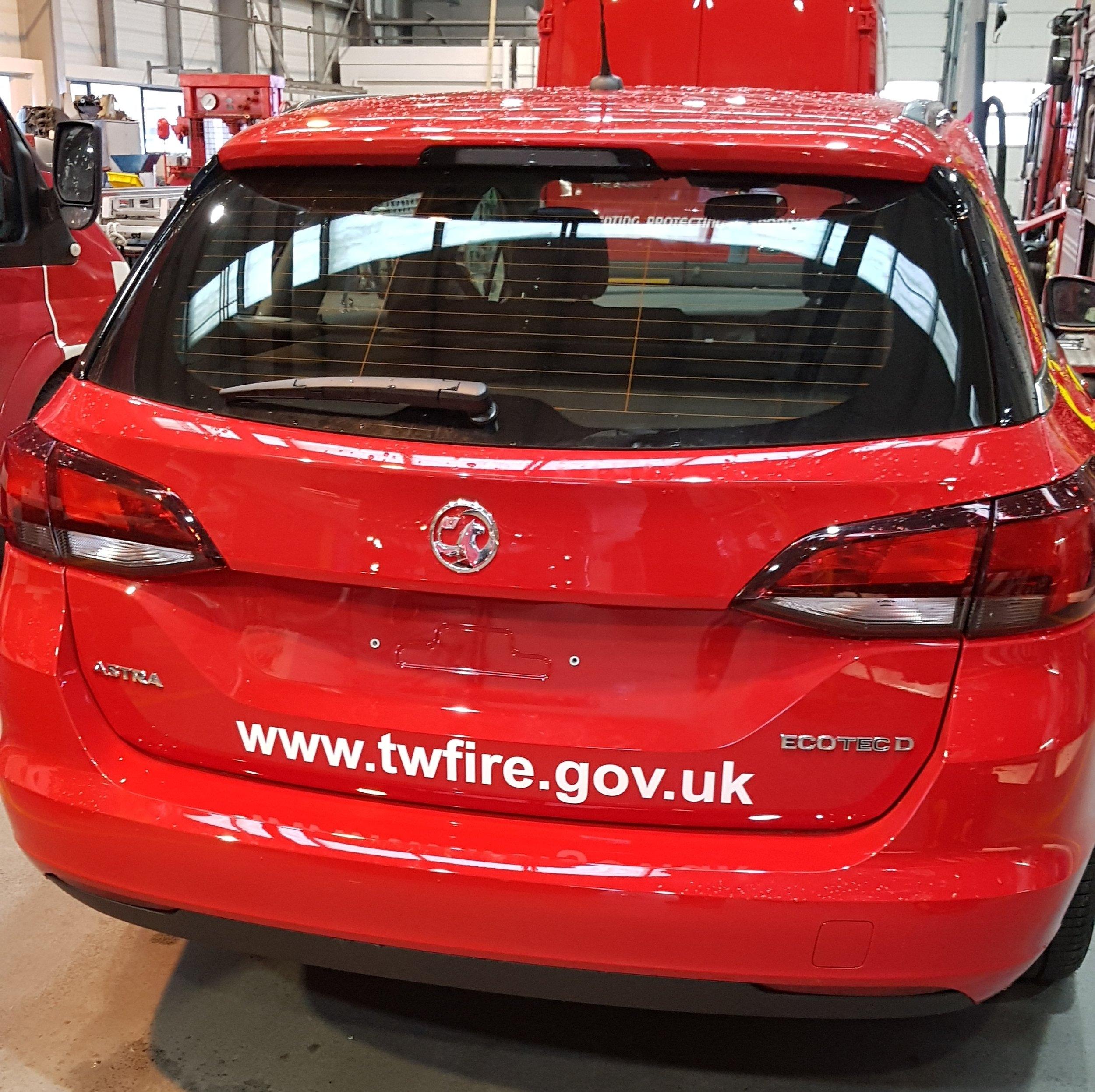 fire brigade car wrap
