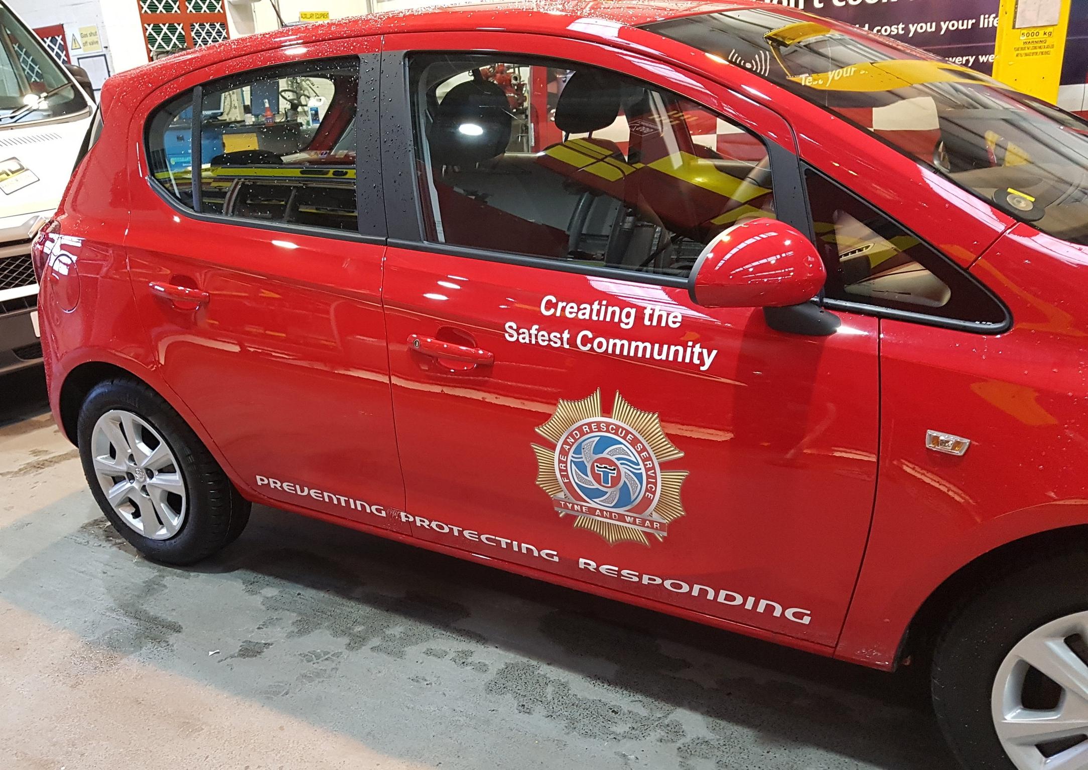 fire brigade car graphics