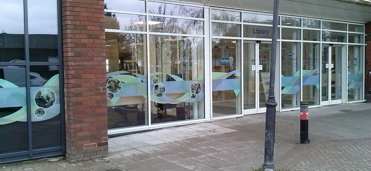 DURHAM COUNTY COUNCIL   Large scale digitally printed window graphics.